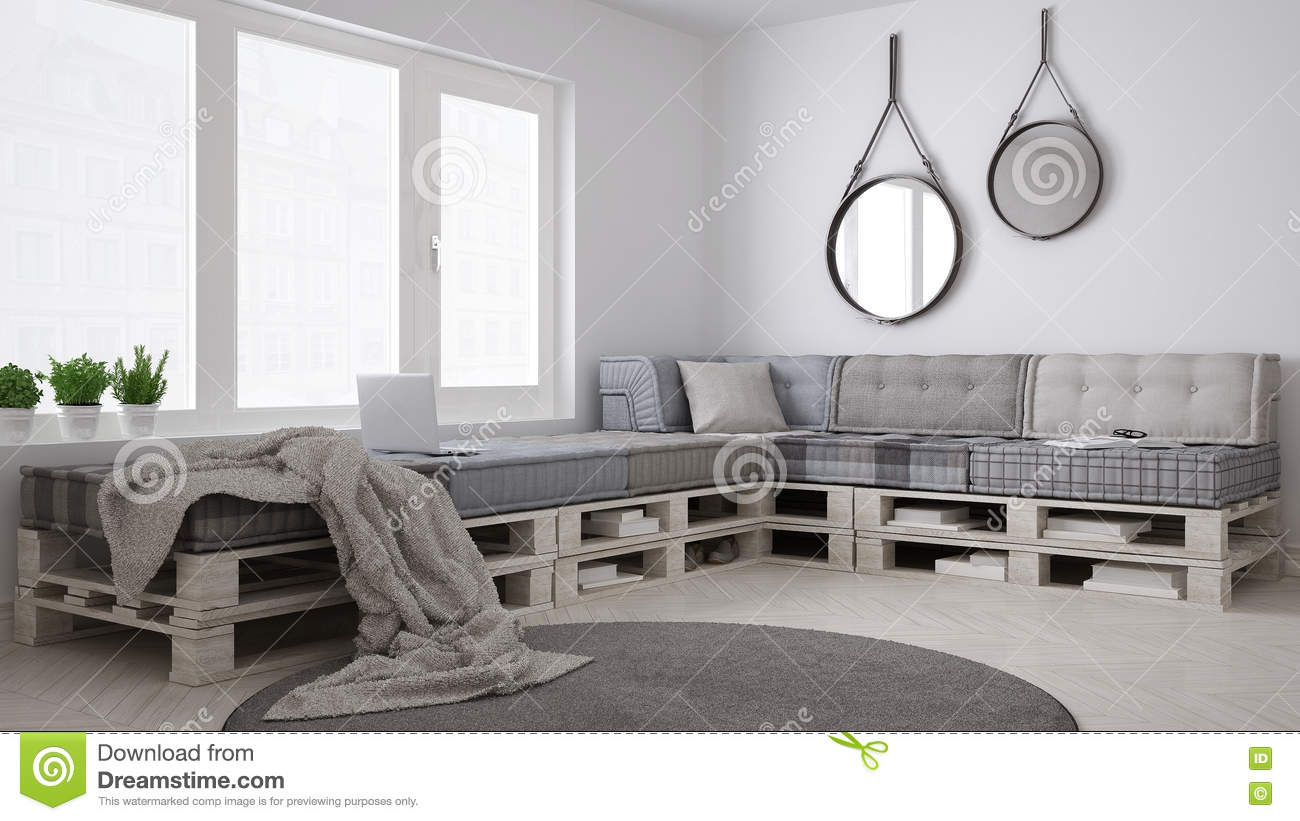 diy laagbank pallet het skandinavische witte leven. Black Bedroom Furniture Sets. Home Design Ideas