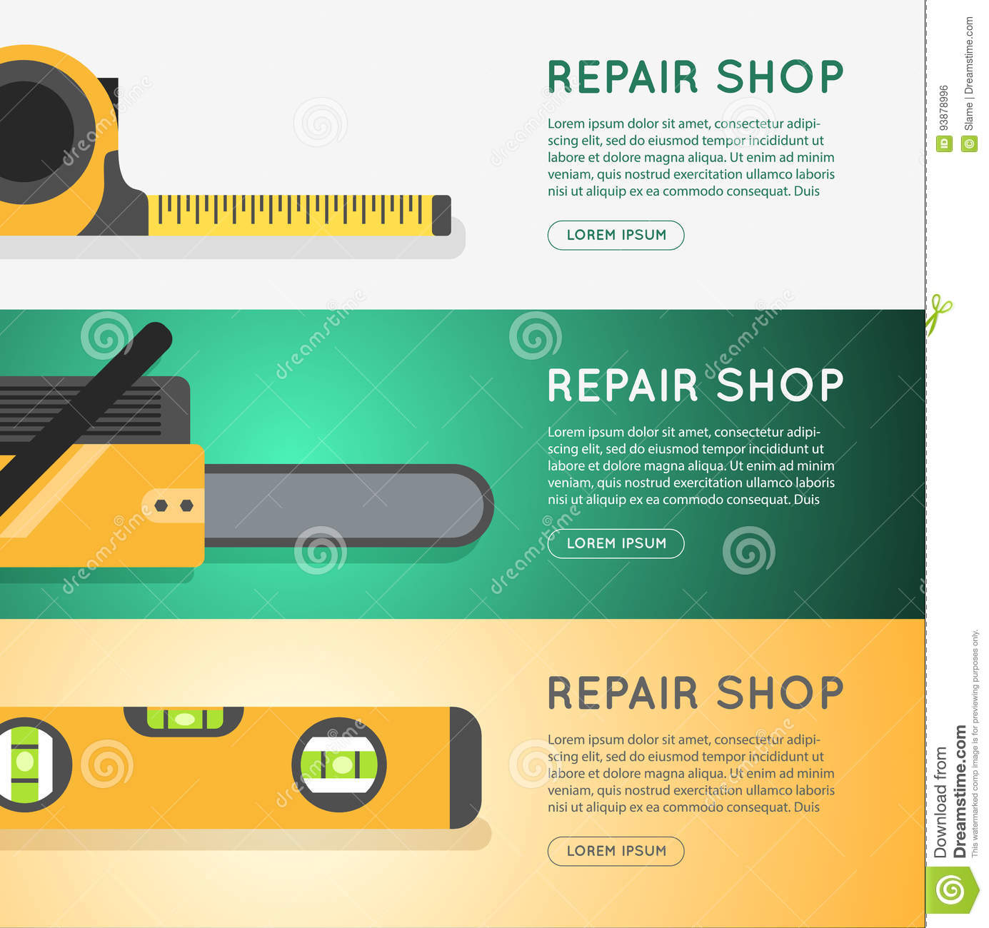 Diy Store Online Banner Design  Stock Illustration - Illustration of