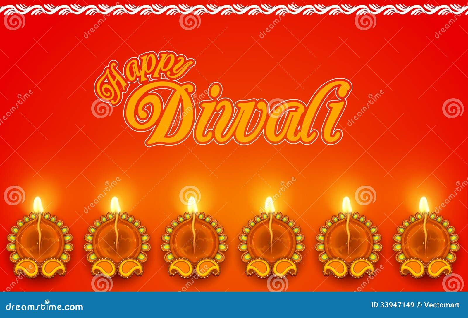 Diya adornado para el día de fiesta de Diwali