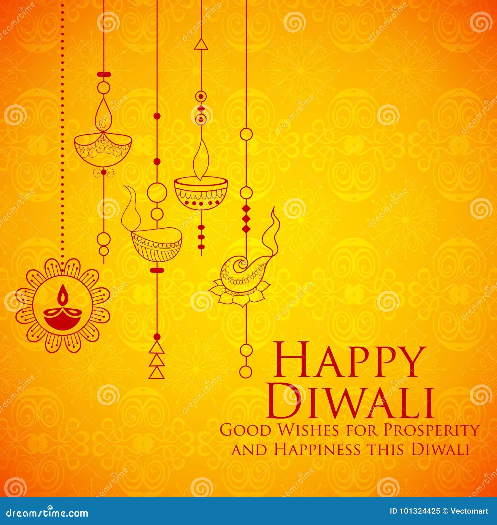 Diya brûlant sur le fond heureux de vacances de Diwali pour le festival léger de l Inde