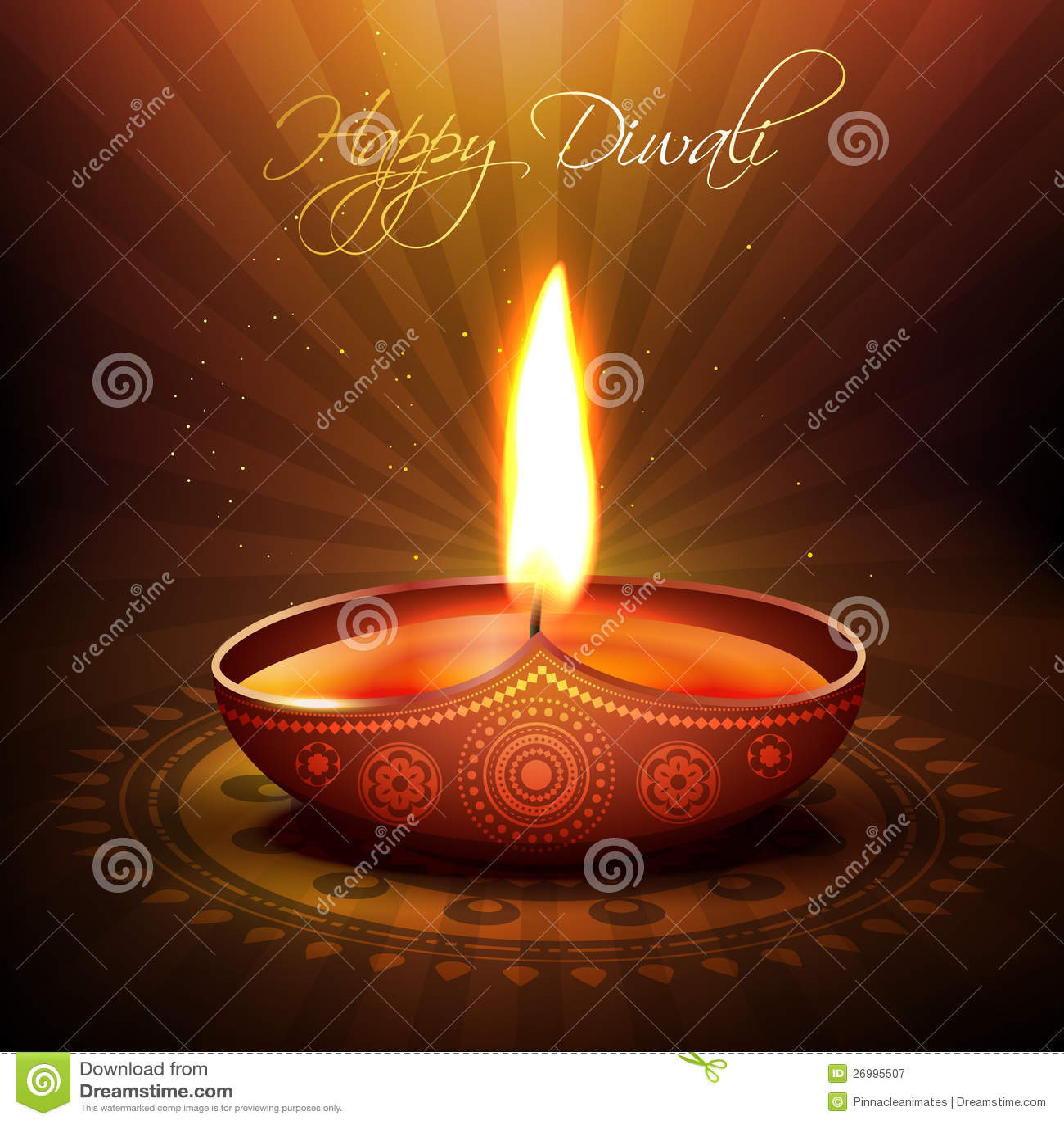 Diya del festival de Diwali