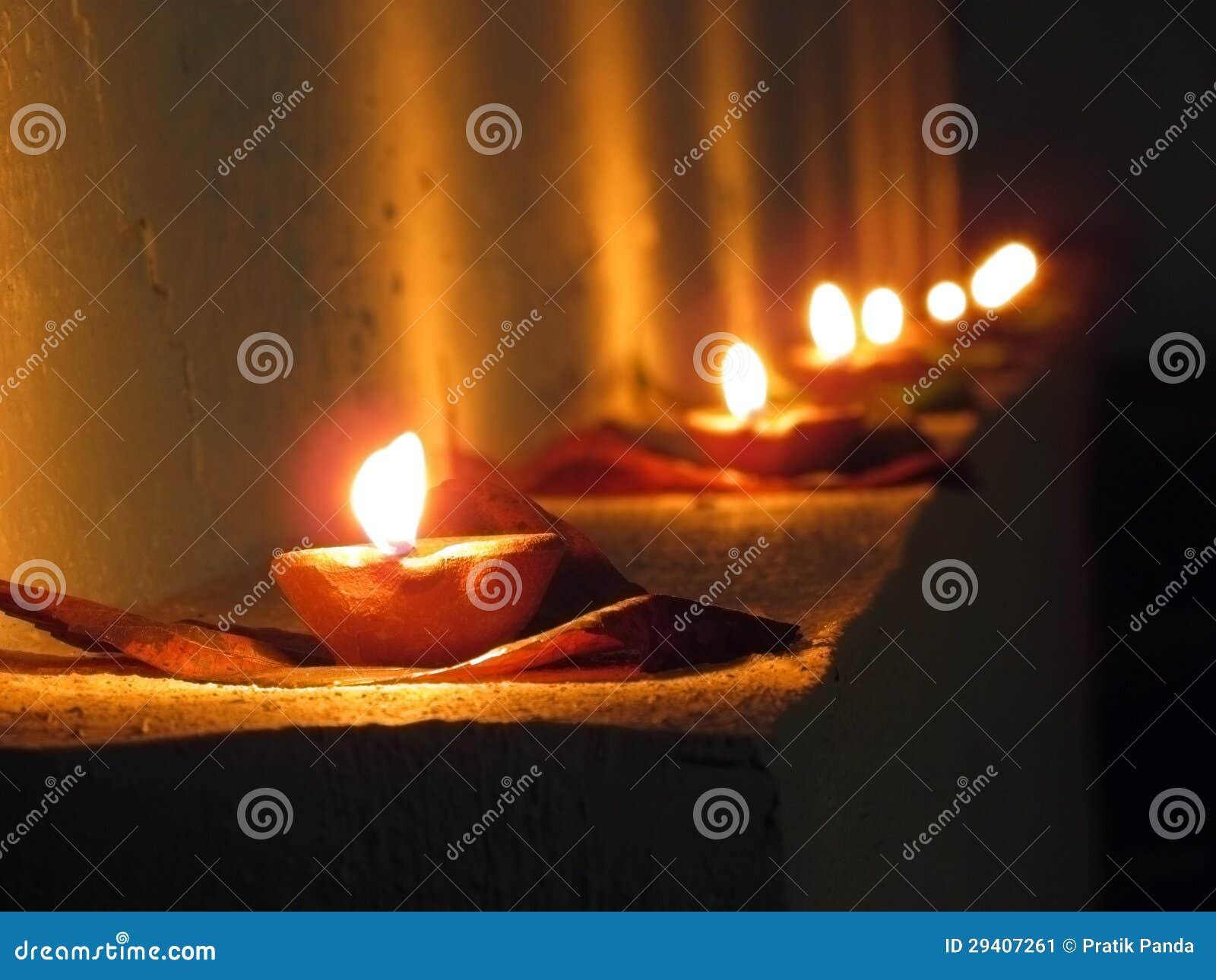 Diya, olielampen, Diwali en Indisch festival van lichten