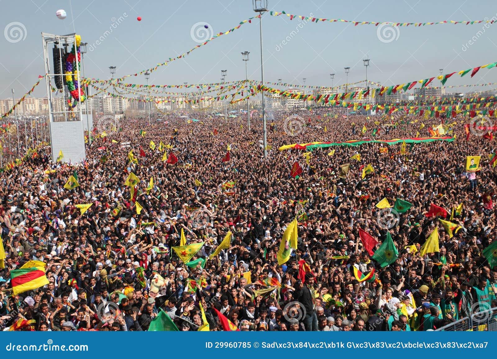 newroz à diyarbakir, turquie. image éditorial - image du dinde
