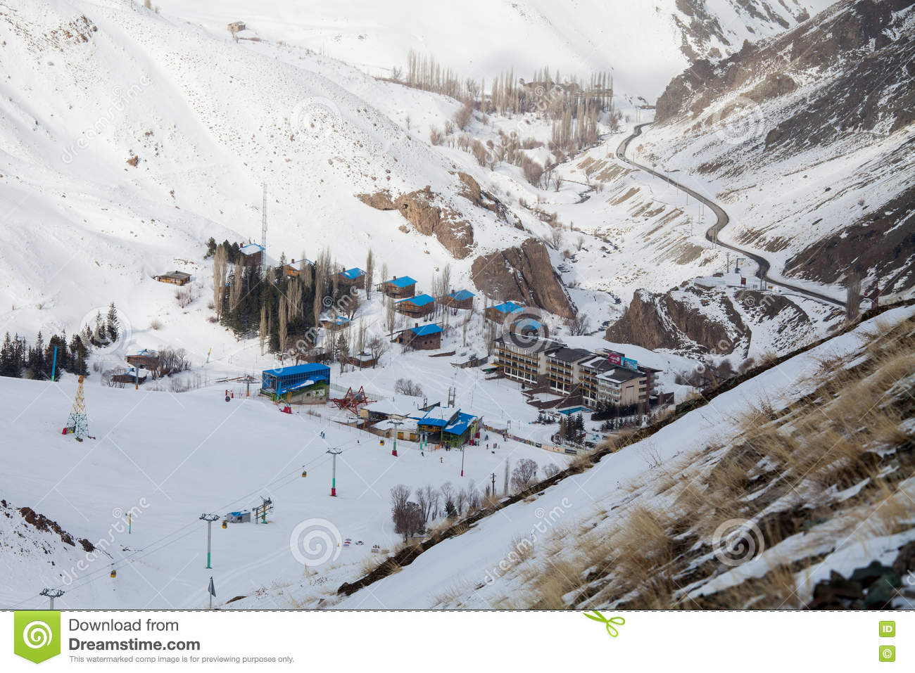 dizin ski resort editorial image. image of mountains - 73875965