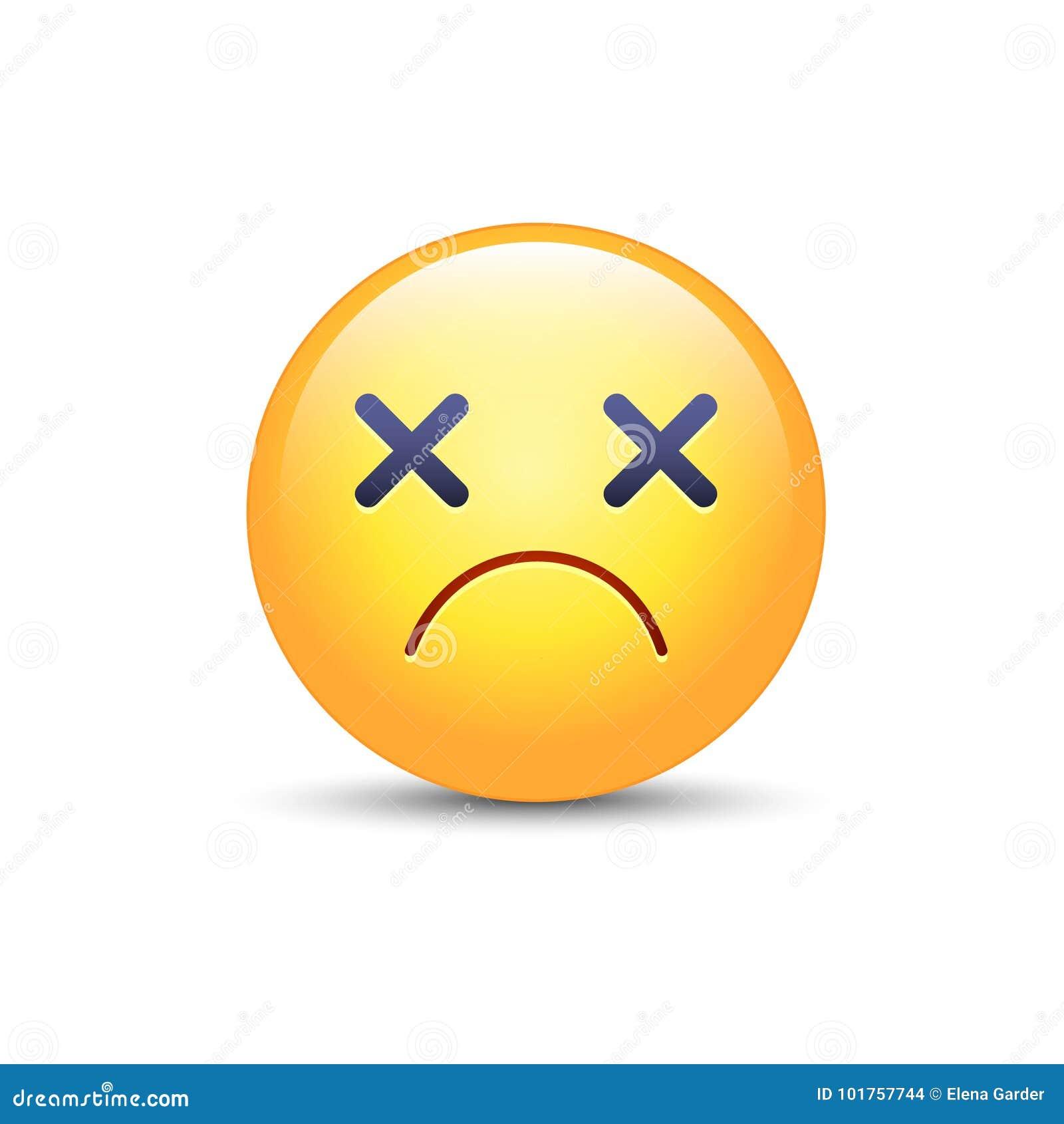 Dizzy emoji face cross eyes emoticon vector icon sad smiley dizzy emoji face cross eyes emoticon vector icon sad smiley vector illustration cartoondealer 101757744 buycottarizona Choice Image