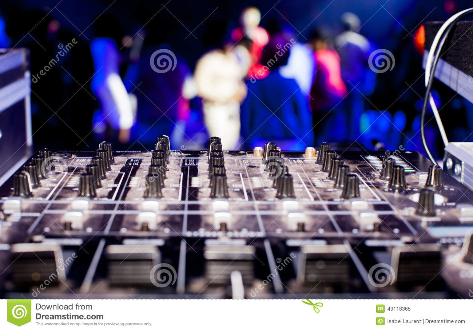 DJ搅拌器箱子和党人群