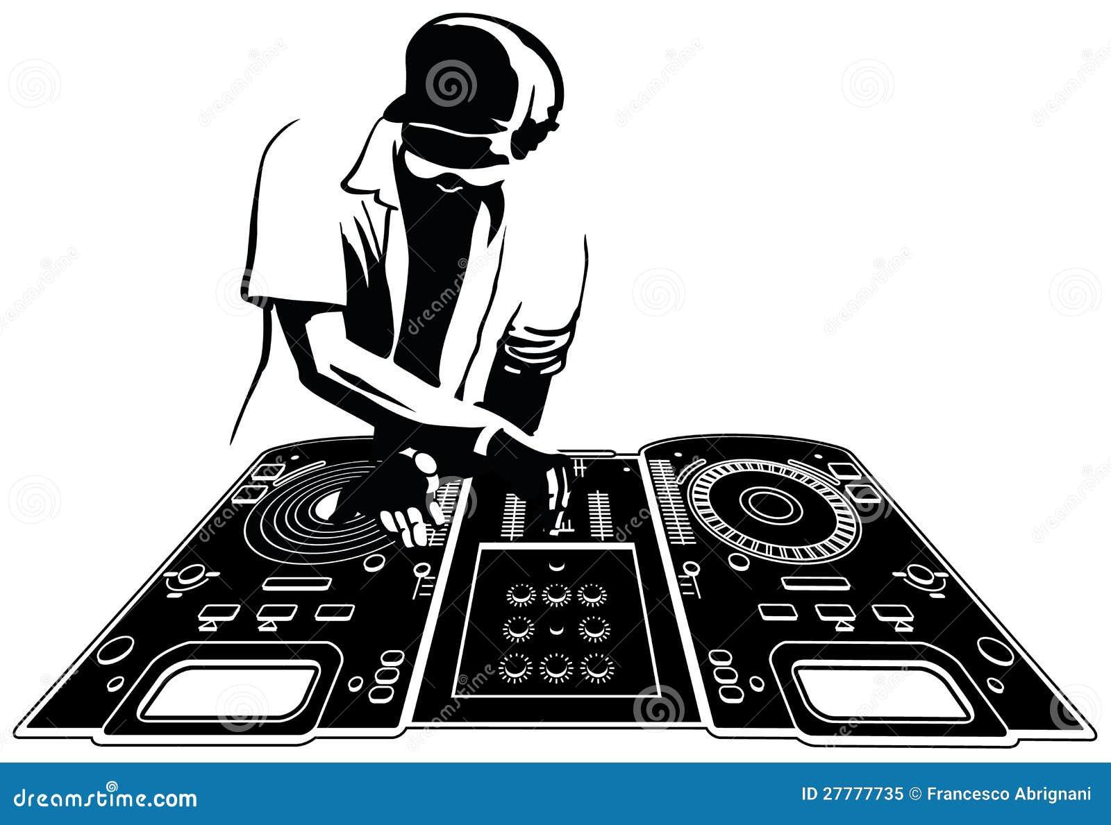 dj stock vector illustration of entertainment electro
