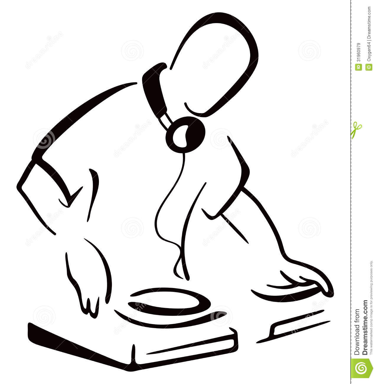 dj behind console royalty free stock images image 31960979 headphones clip art free headphone clipart