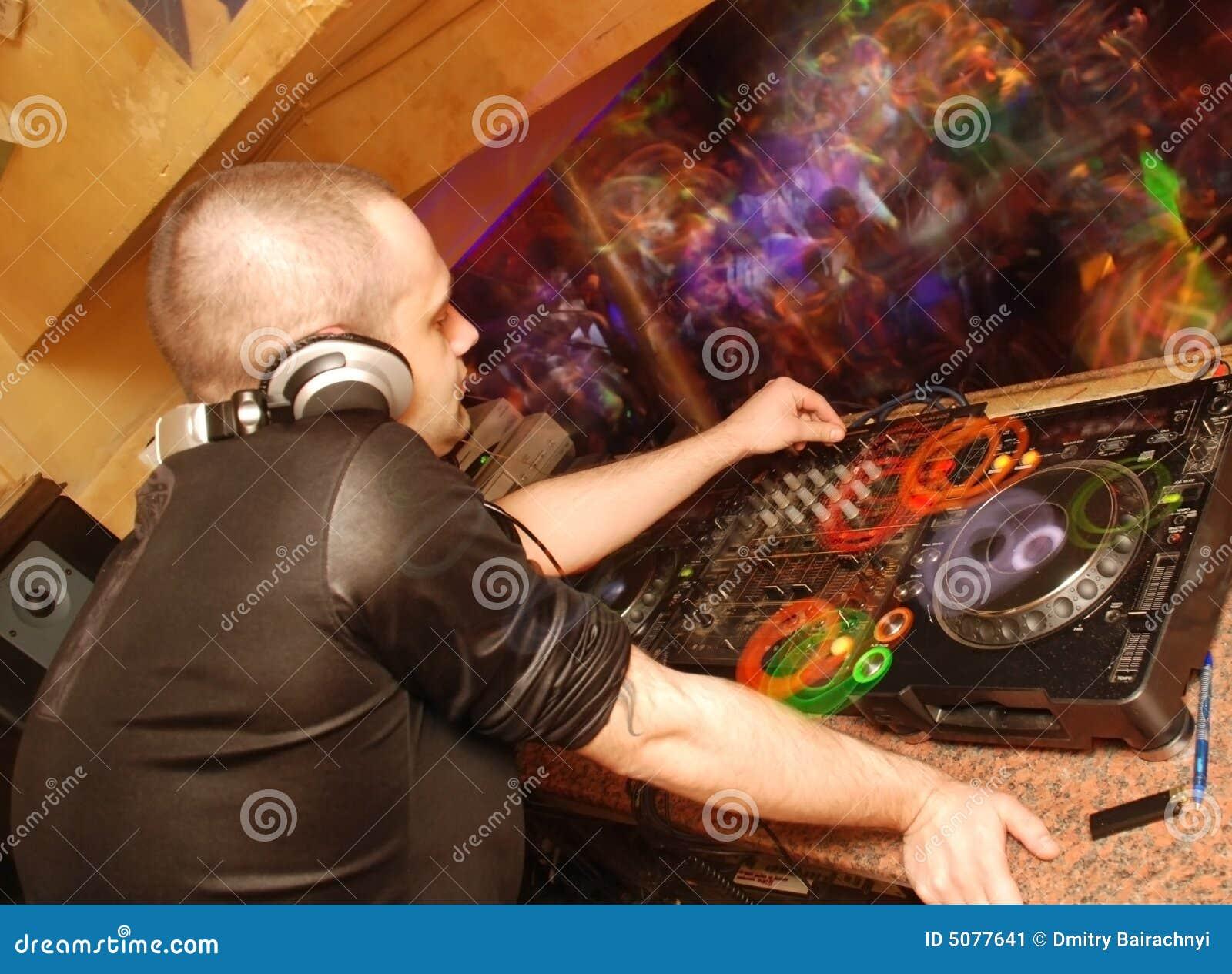 DJ in club