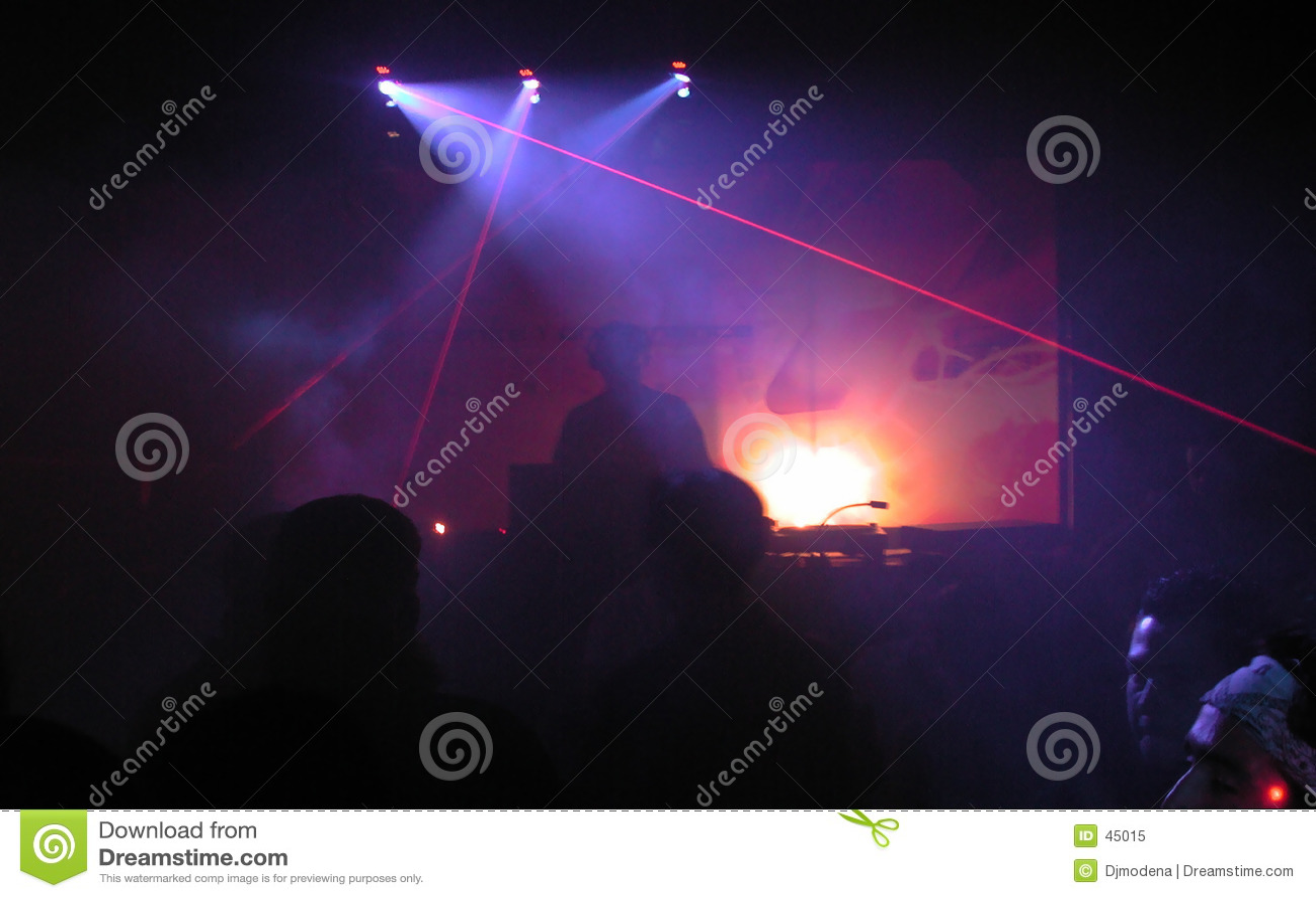 DJ com laser