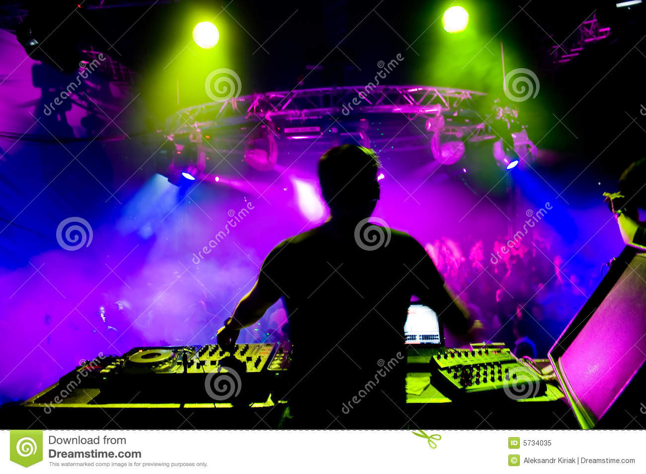 Dj At The Concert Stock Image Image Of Event Light