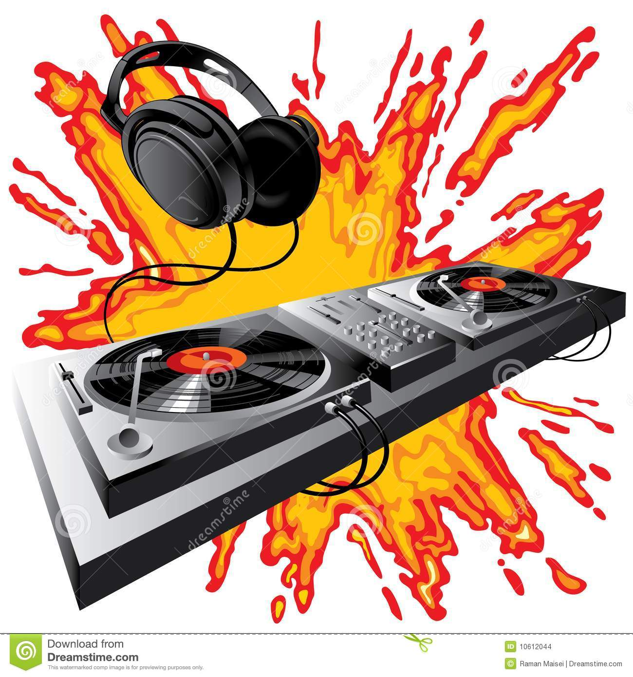 dj control panel stock images image 10612044 headphone vector graphic head phone vector image