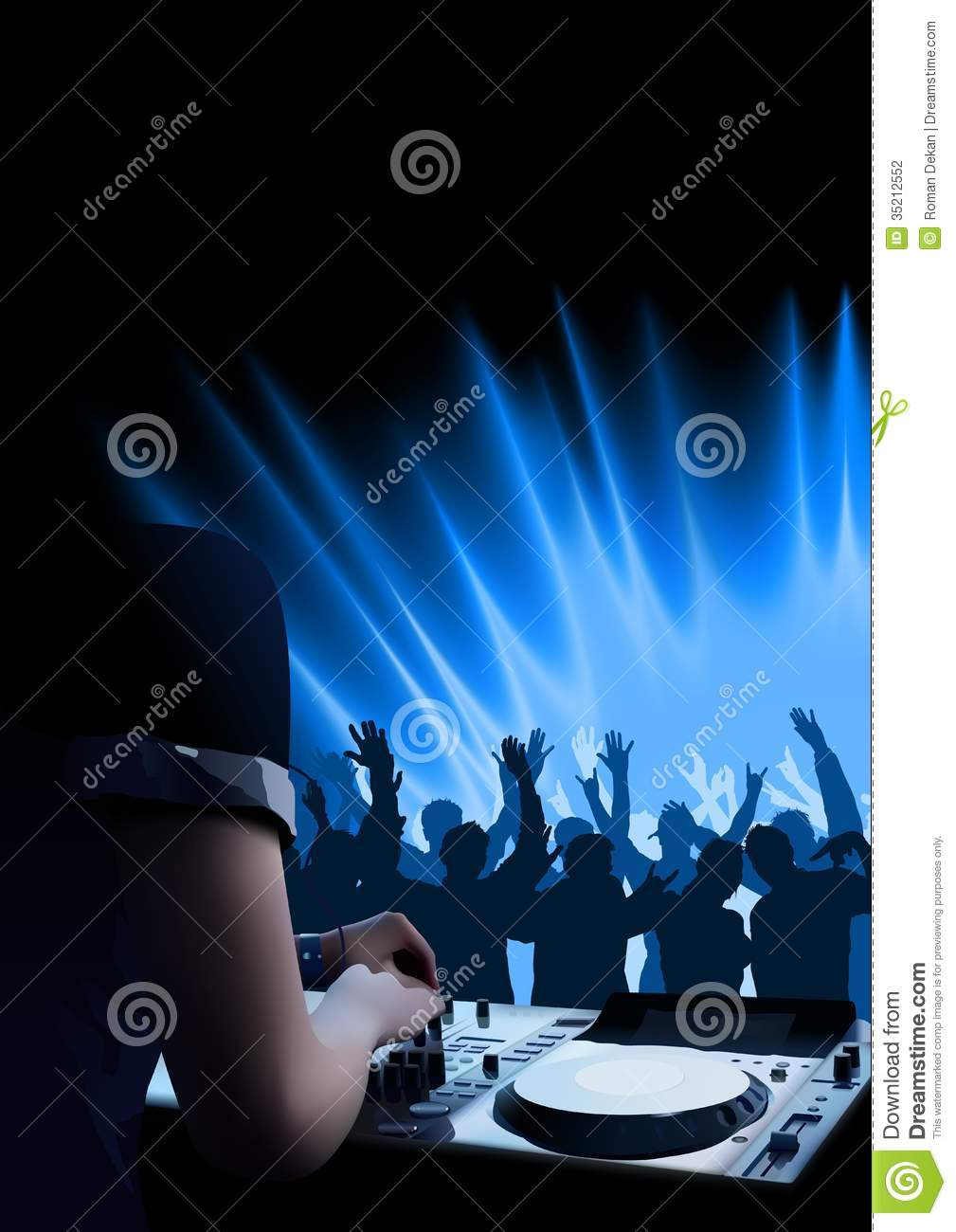 DJ Dance Party Background Stock Photography - Image: 35212552