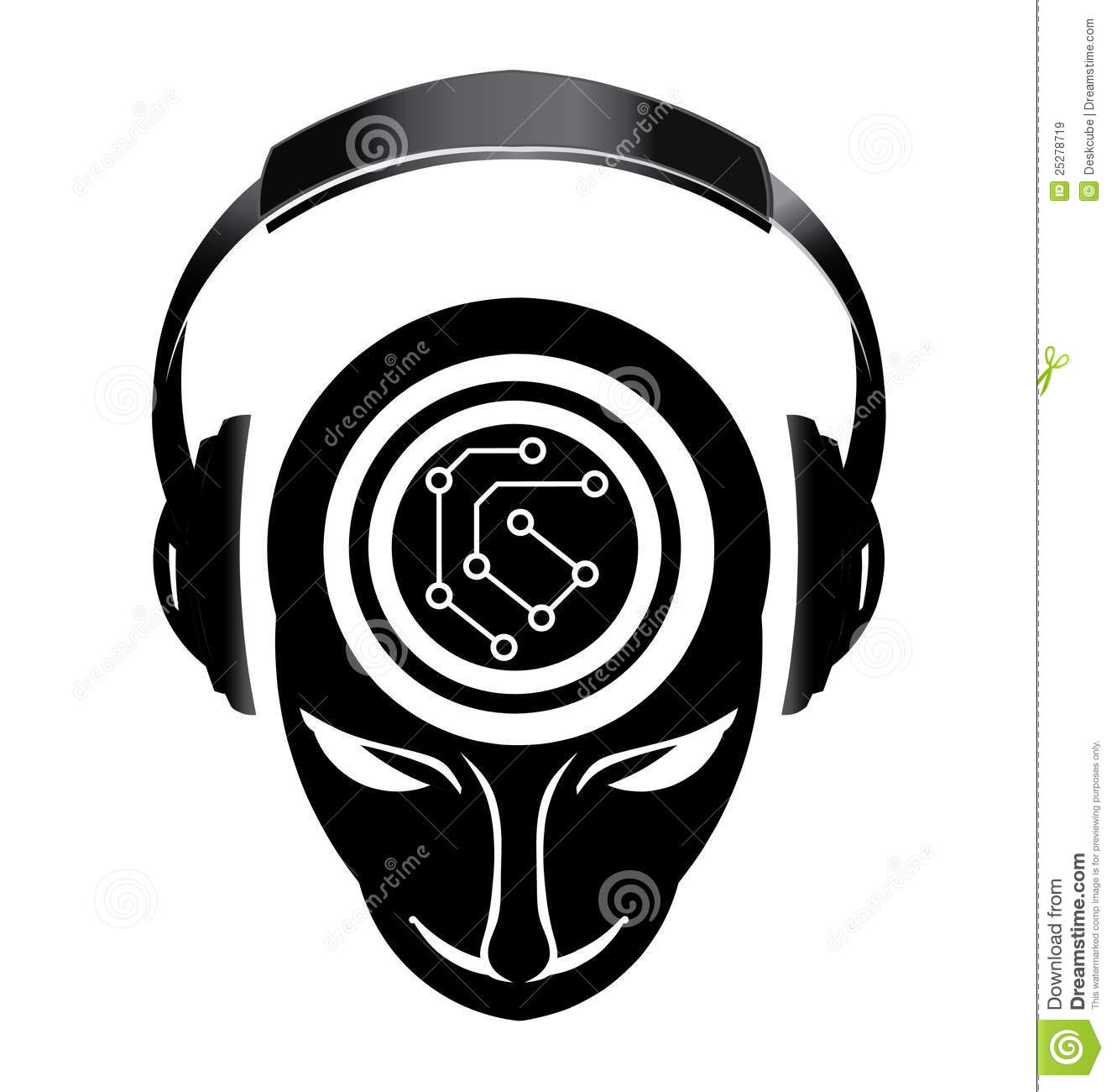Dj electronic mind Logo stock vector. Image of disco ...