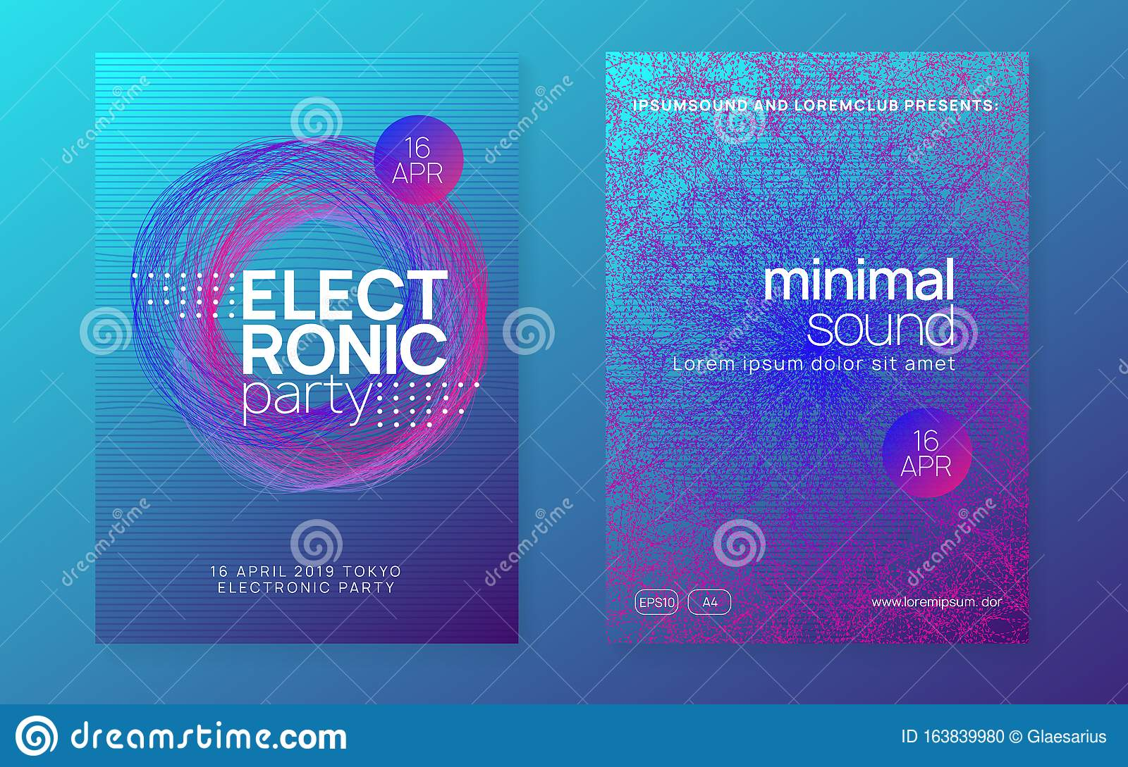 Neon Club Flyer Electro Dance Music Trance Party Dj Electroni Stock  Illustration - Download Image Now - iStock
