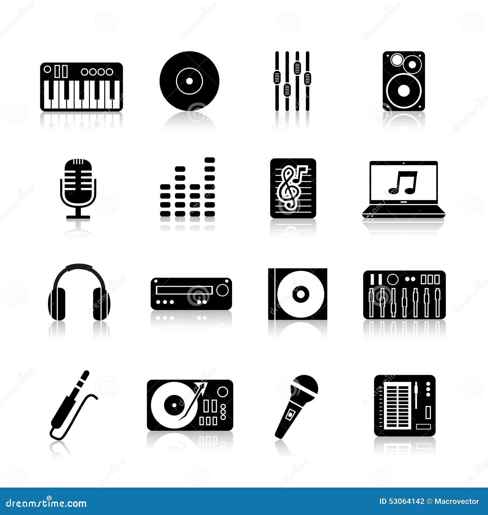 set black dj mixer equipment royalty