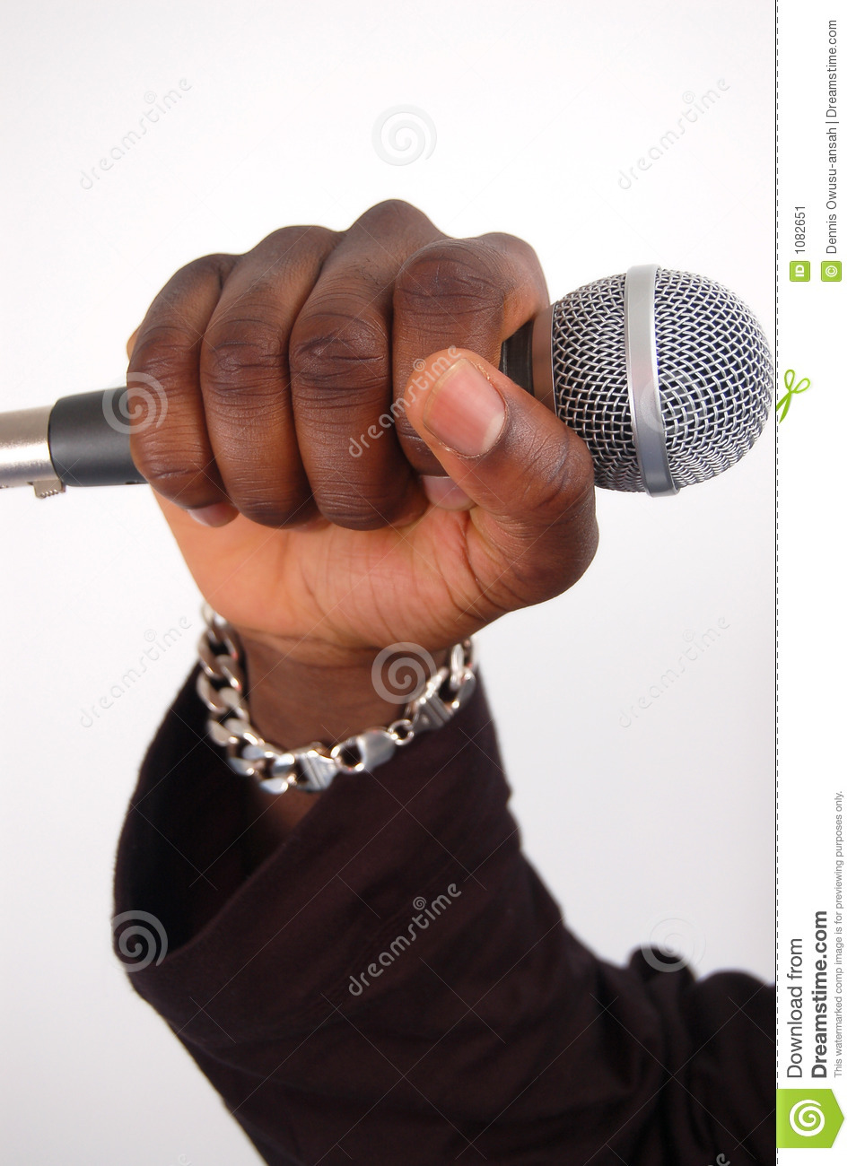 Microphone In Hand : Dj mic stock image of electronics deejay black