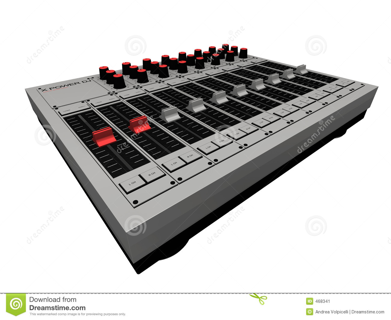 Download Dj Mixer stock illustration. Illustration of mixing, turntable - 468341