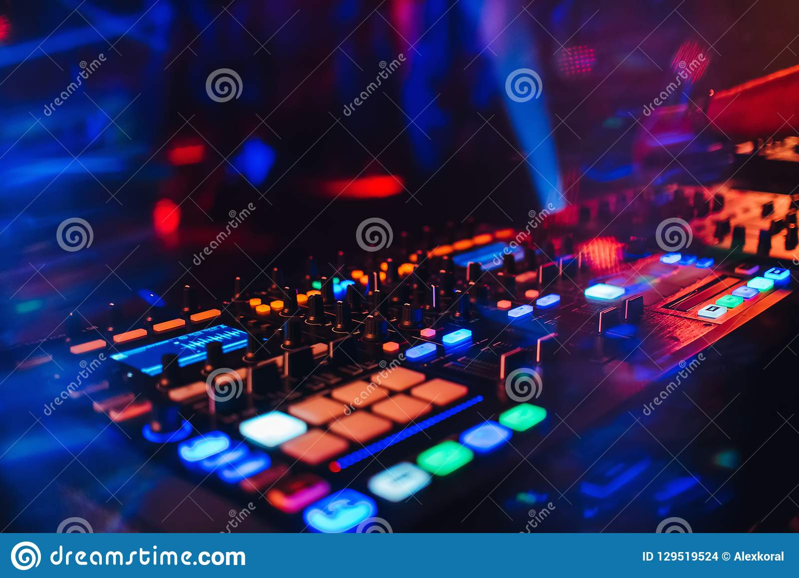 DJ Mixer Controller Panel For Electronic Music Stock Photo - Image