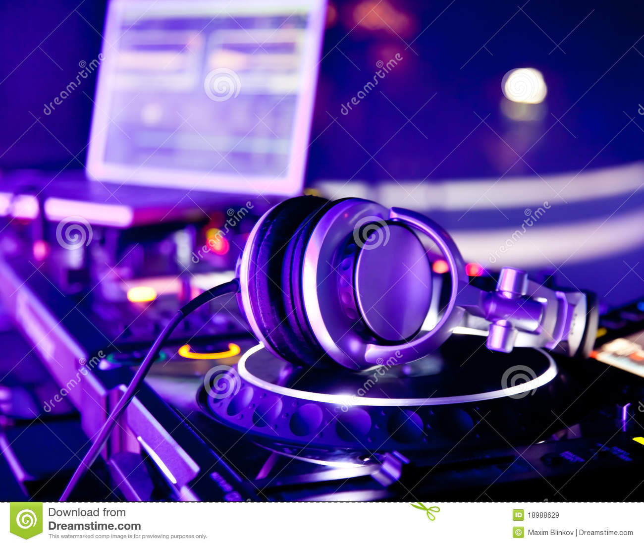 dj mixer with headphones royalty free stock images image