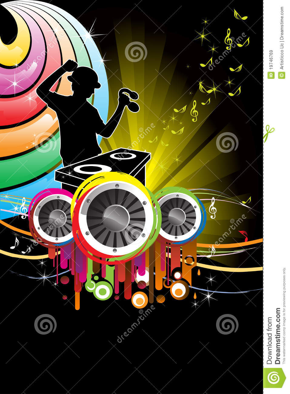 DJ Music Royalty Free Stock Images - Image: 19746769