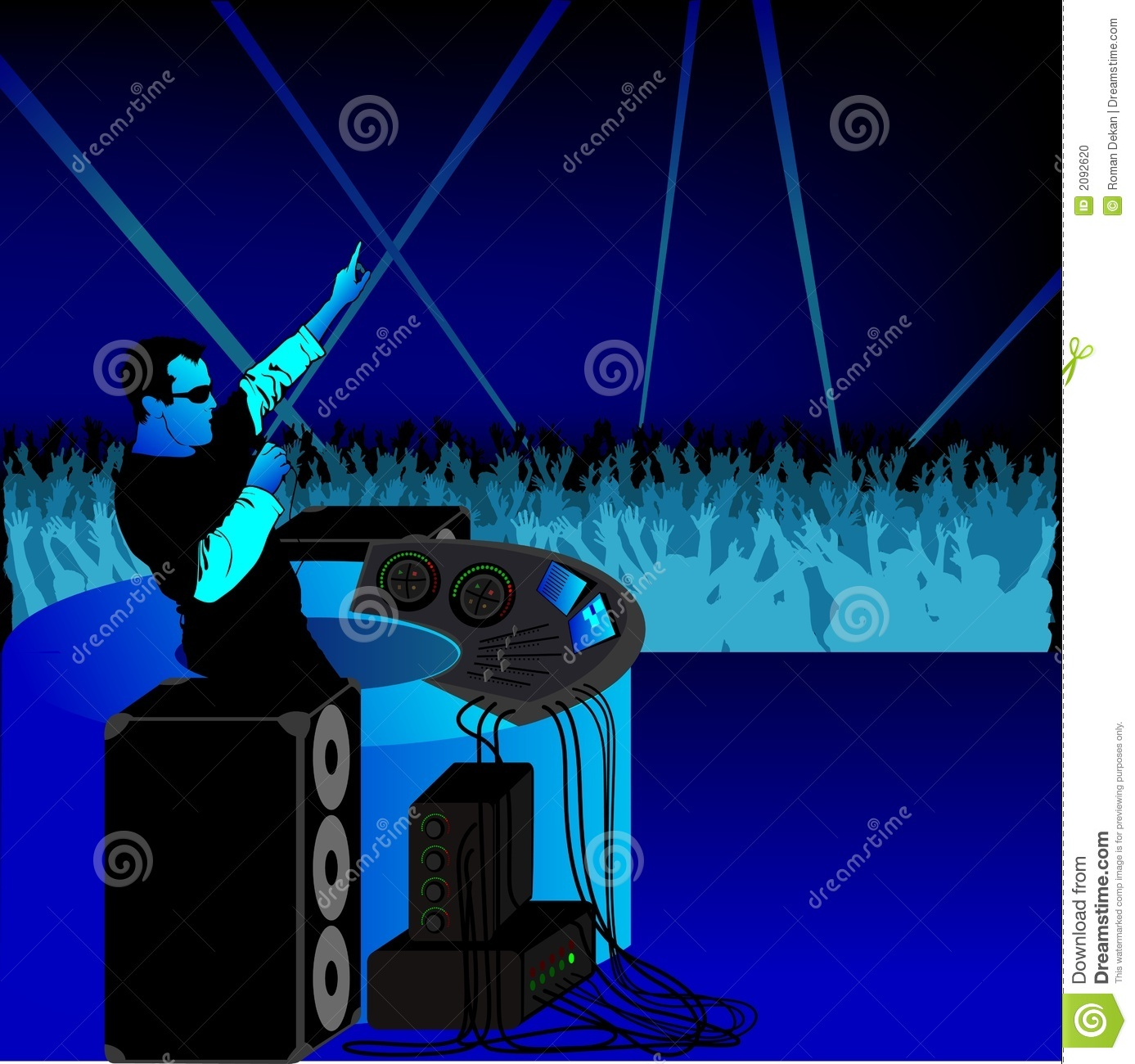 DJ Party Blue Stock Photo - Image: 2092620