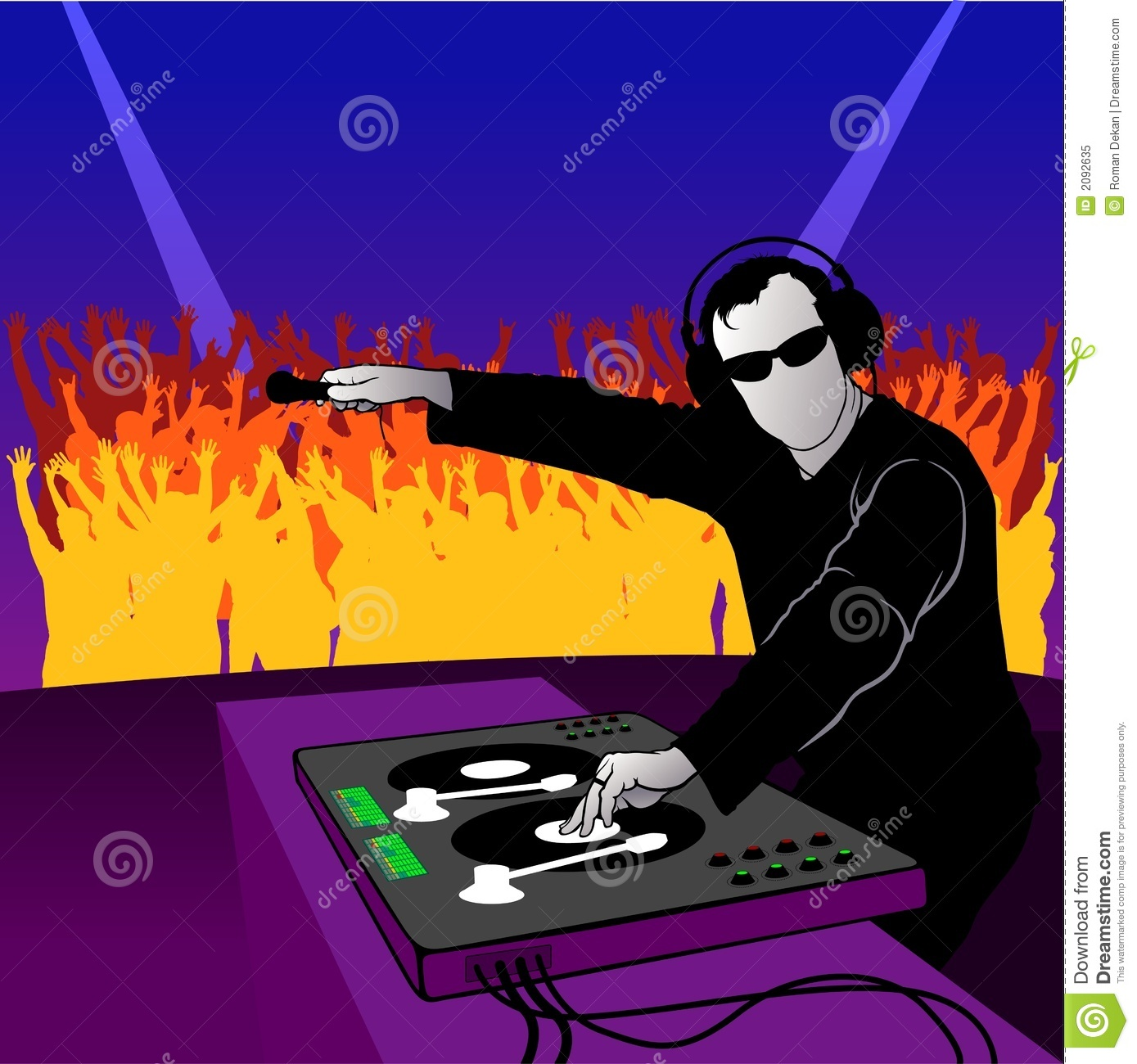 Dj Party Dance Royalty Free Stock Photo Image 2092635