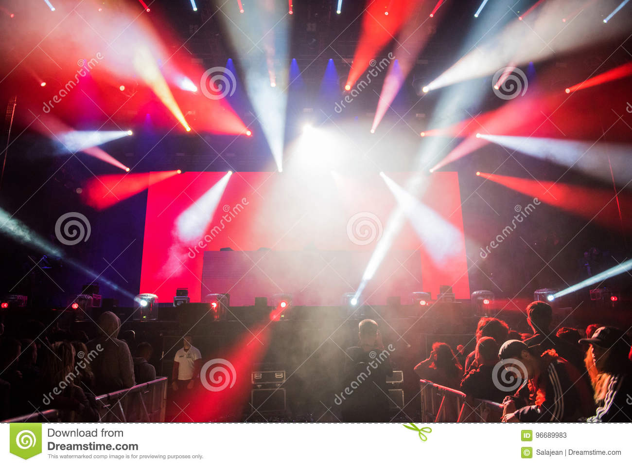 Dj Performs A Live Electronic Dance Music Concert Editorial Stock