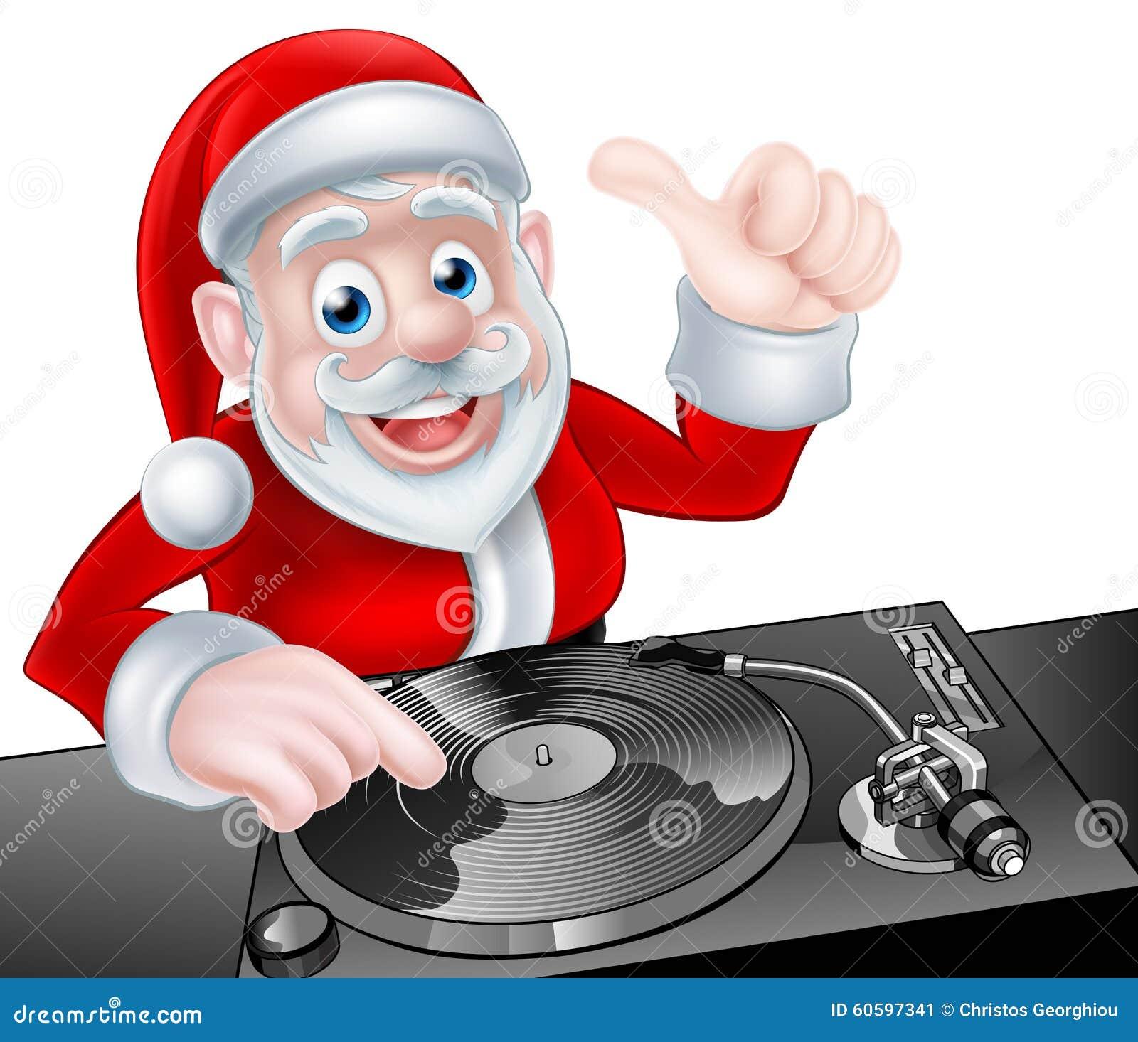 DJ Santa Cartoon Stock Vector - Image: 60597341