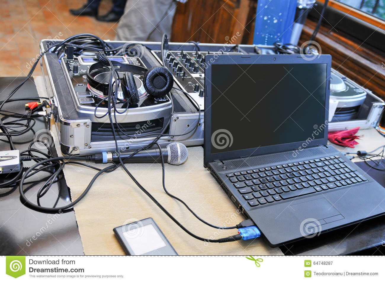 dj sound system stock image image of leisure board