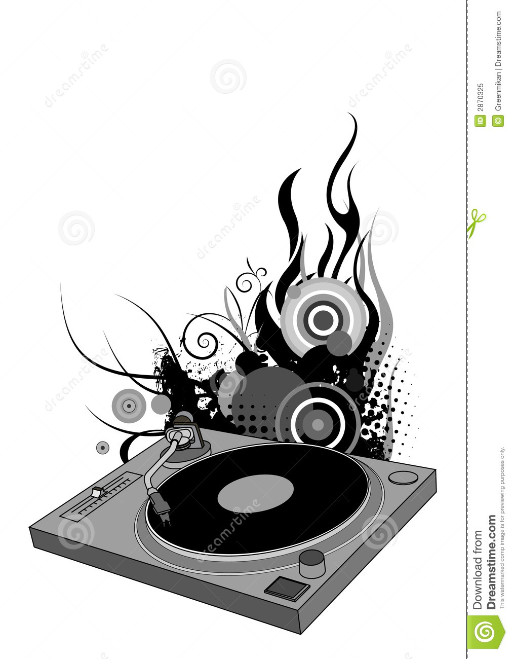 DJ Turntable Royalty Free Stock Photo - Image: 2870325