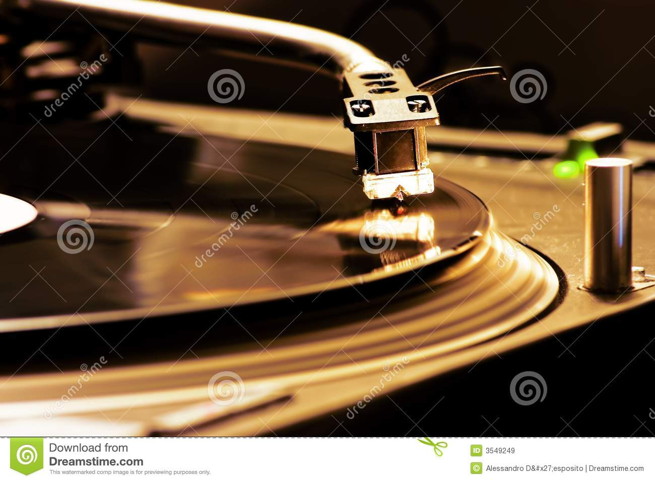DJ Turntable Royalty Free Stock Images - Image: 3549249