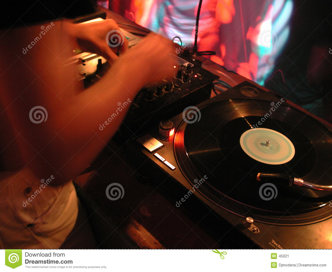 Dj at turntables