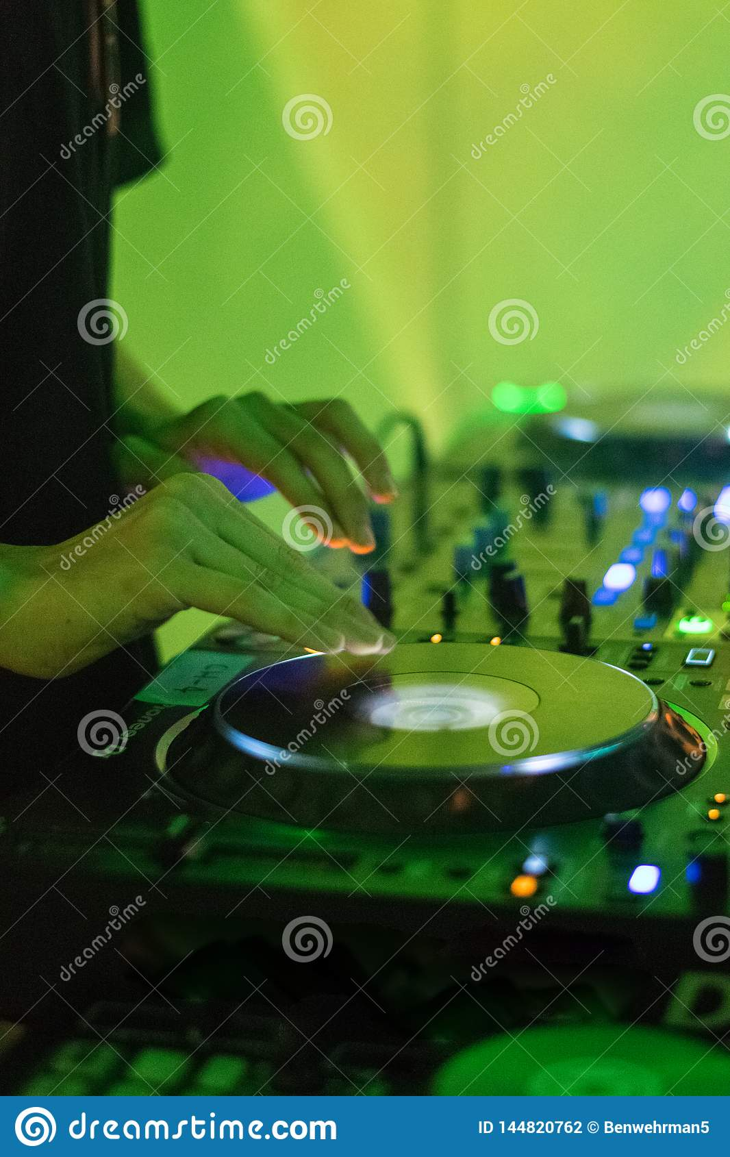 DJ Playing Electronic Music
