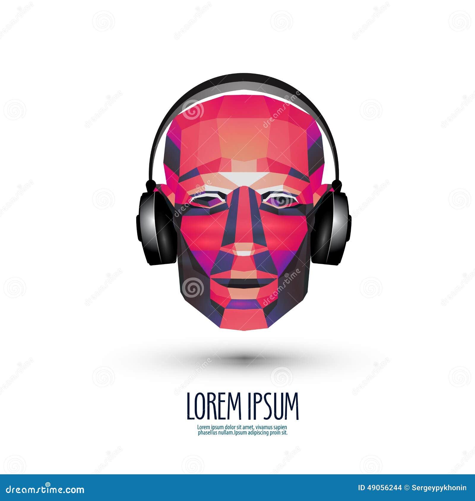 Room Layout Creator Dj Vector Logo Design Template Music Or Stock Vector