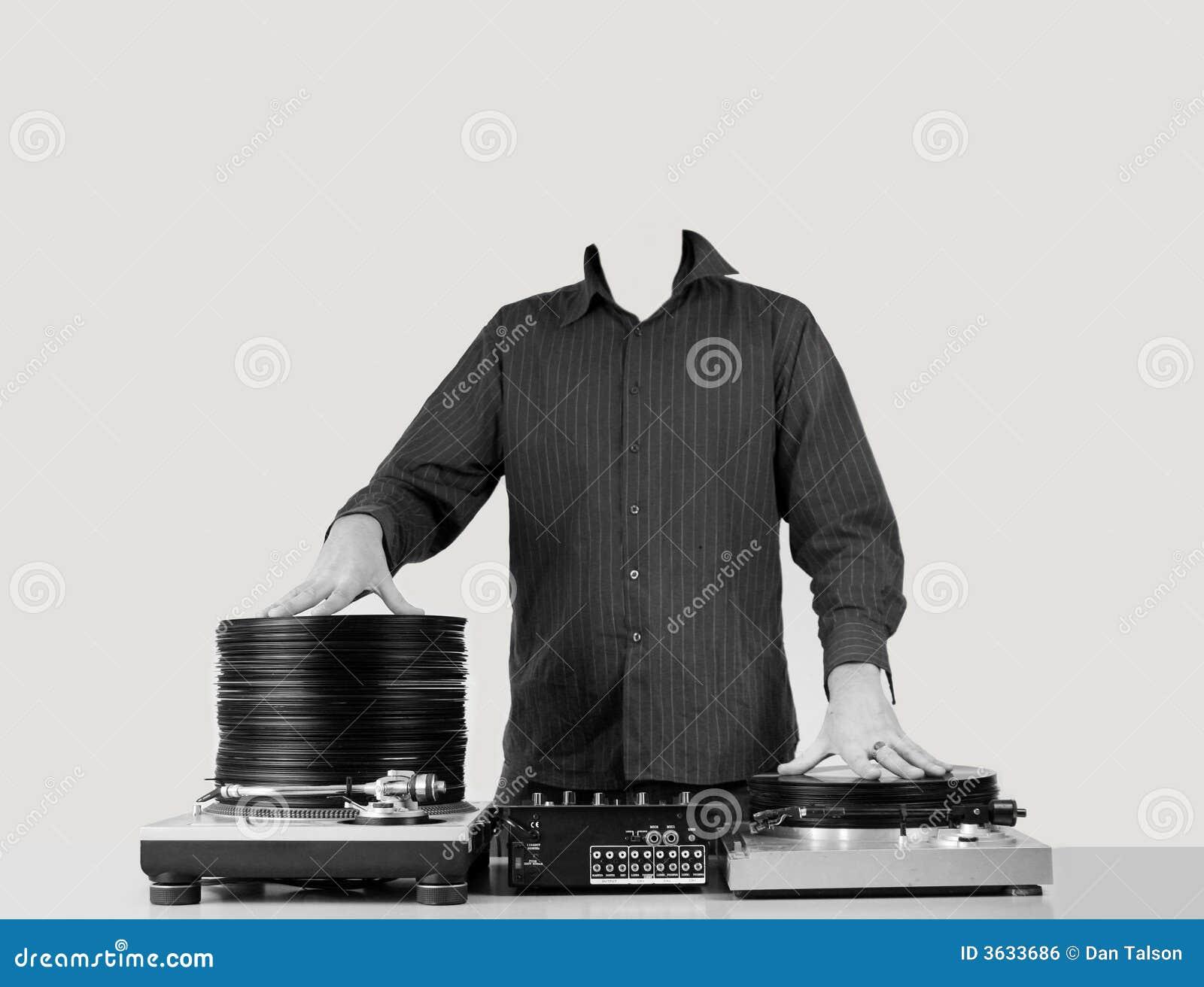 DJ zonder hoofd