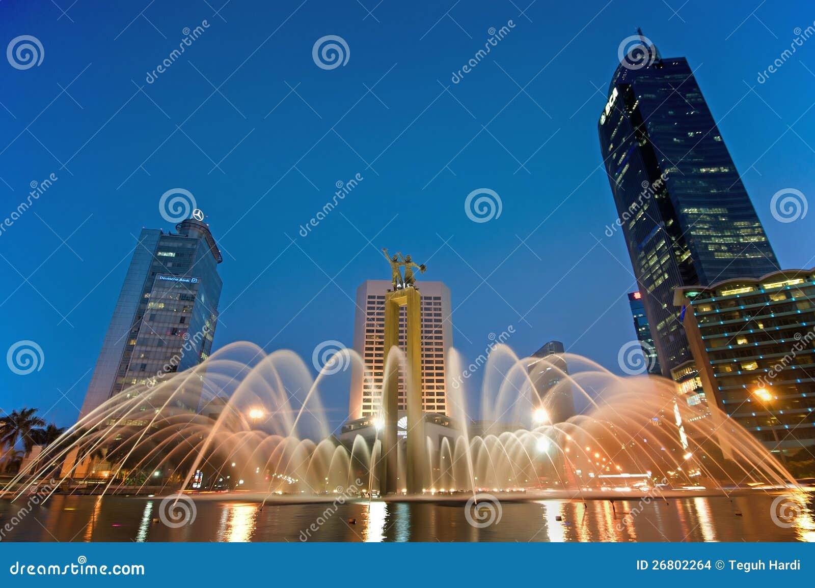 Djakarta bij nacht
