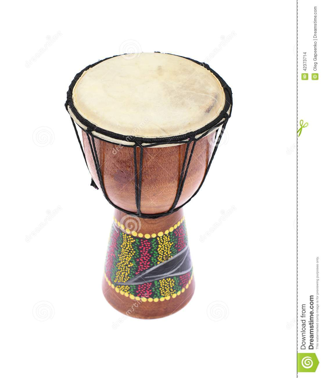 Djembe drum tam tam isolated on white background stock photo image 42373714 - Voetenbank tam tam ...