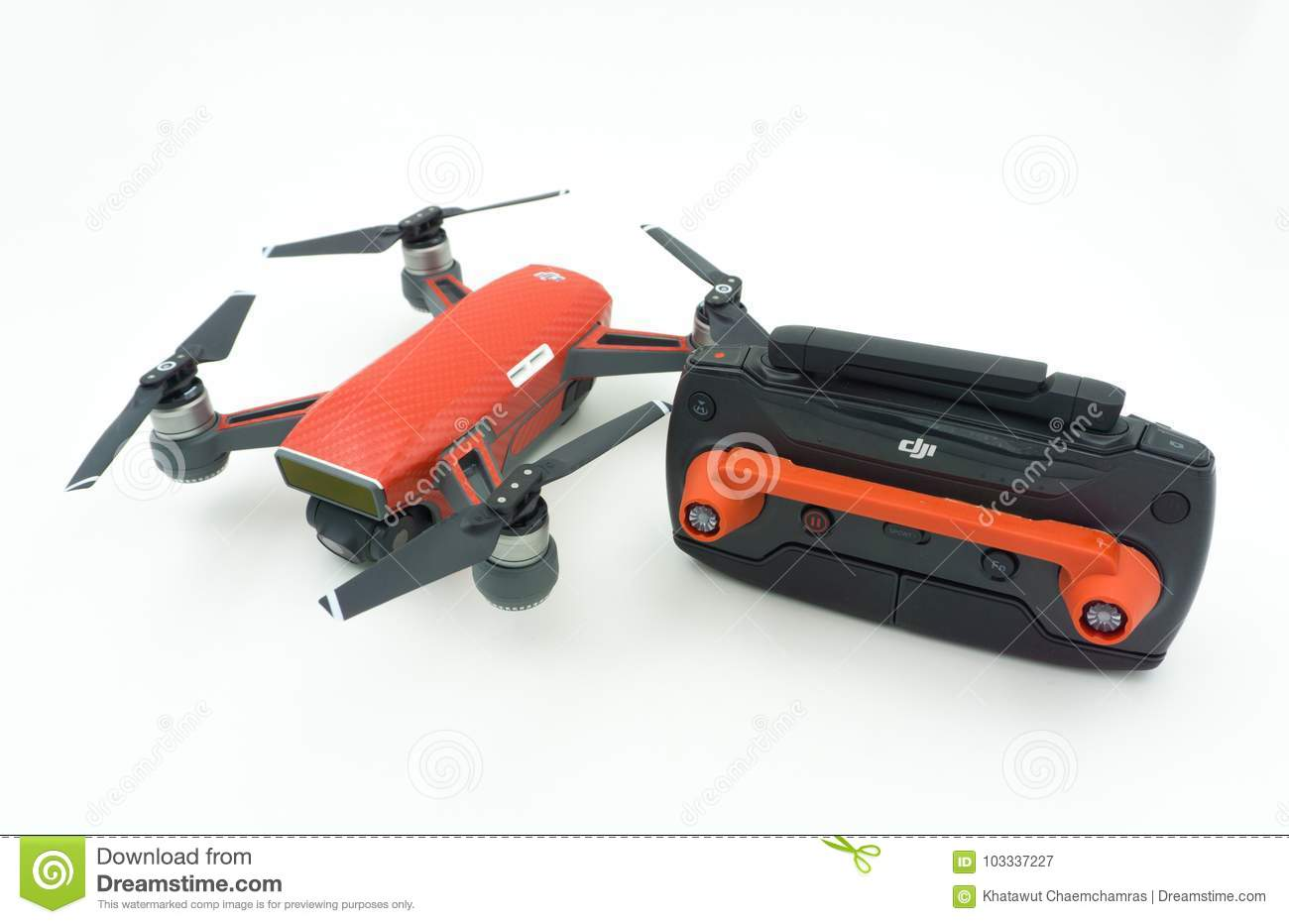Dji Spark Drone Start Sell In Thailand Is A Mini Fr Sky Blue
