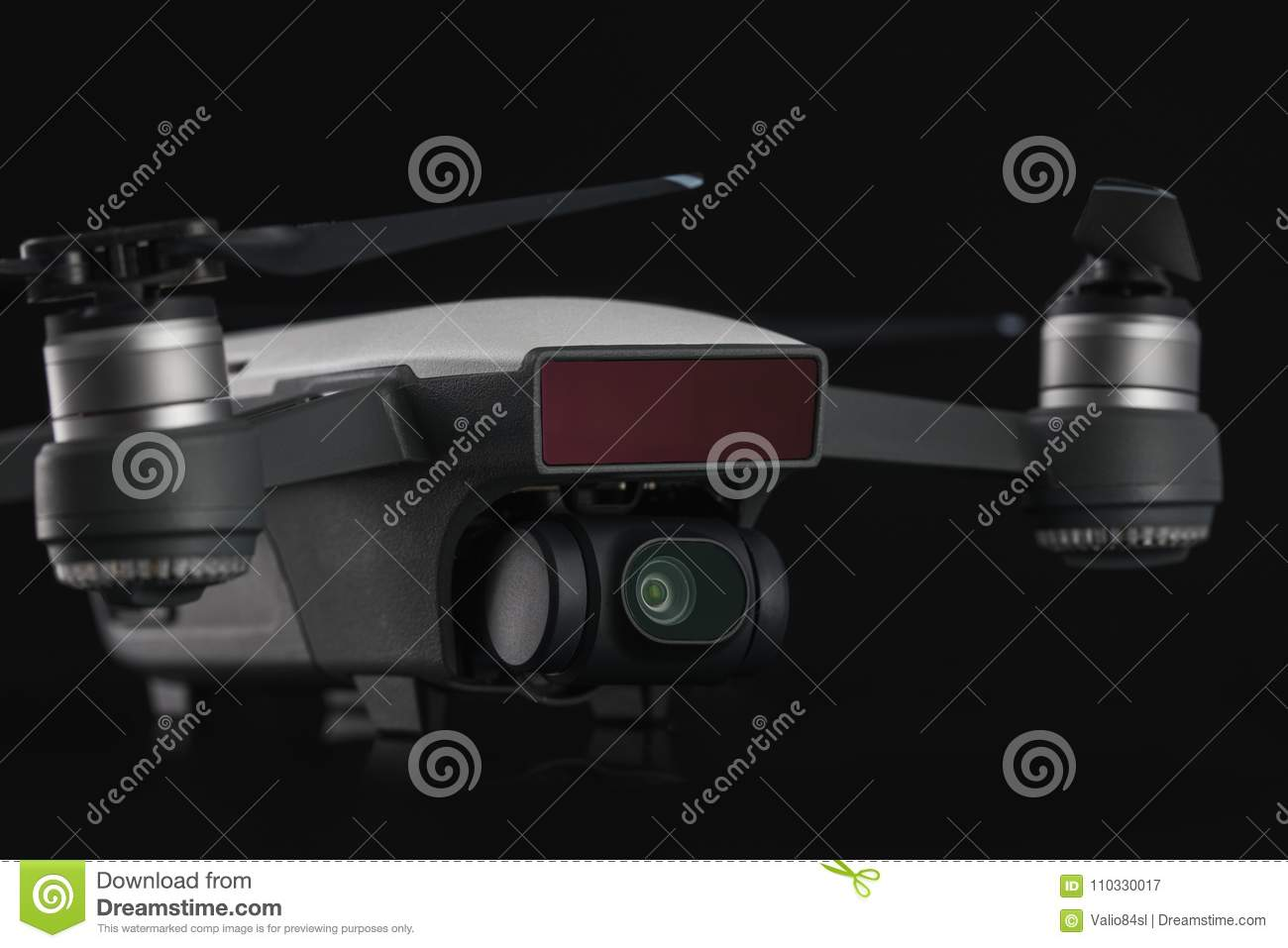 Dji Spark isolated on black