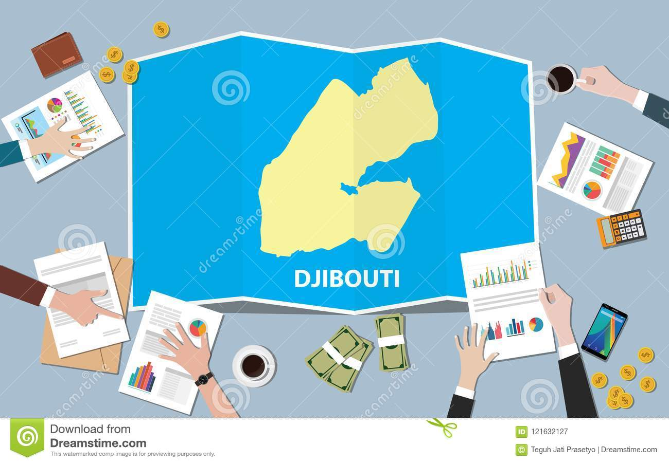 Djibouti Africa Economy Country Growth Nation Team Discuss With Fold ...