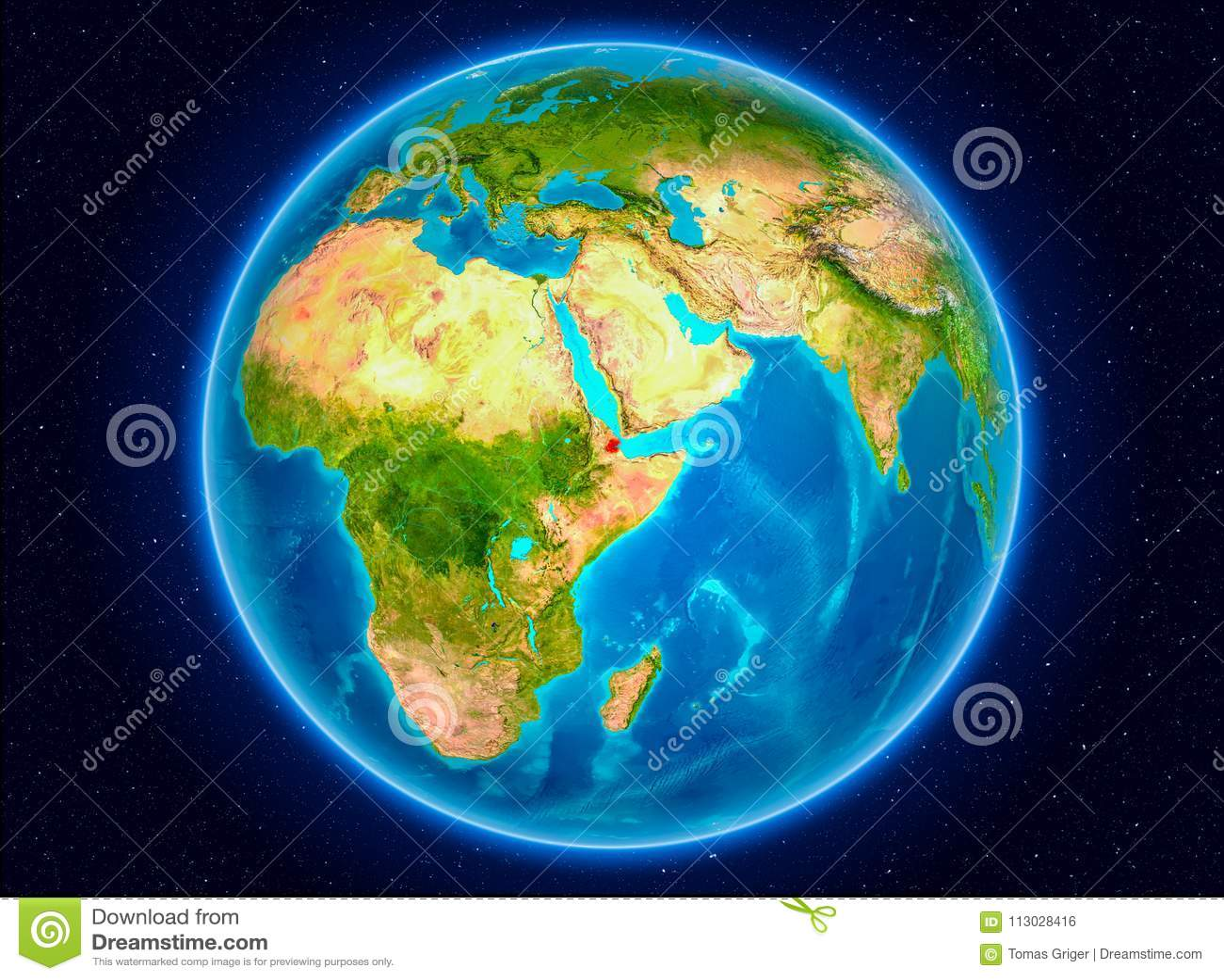 Djibouti en la tierra