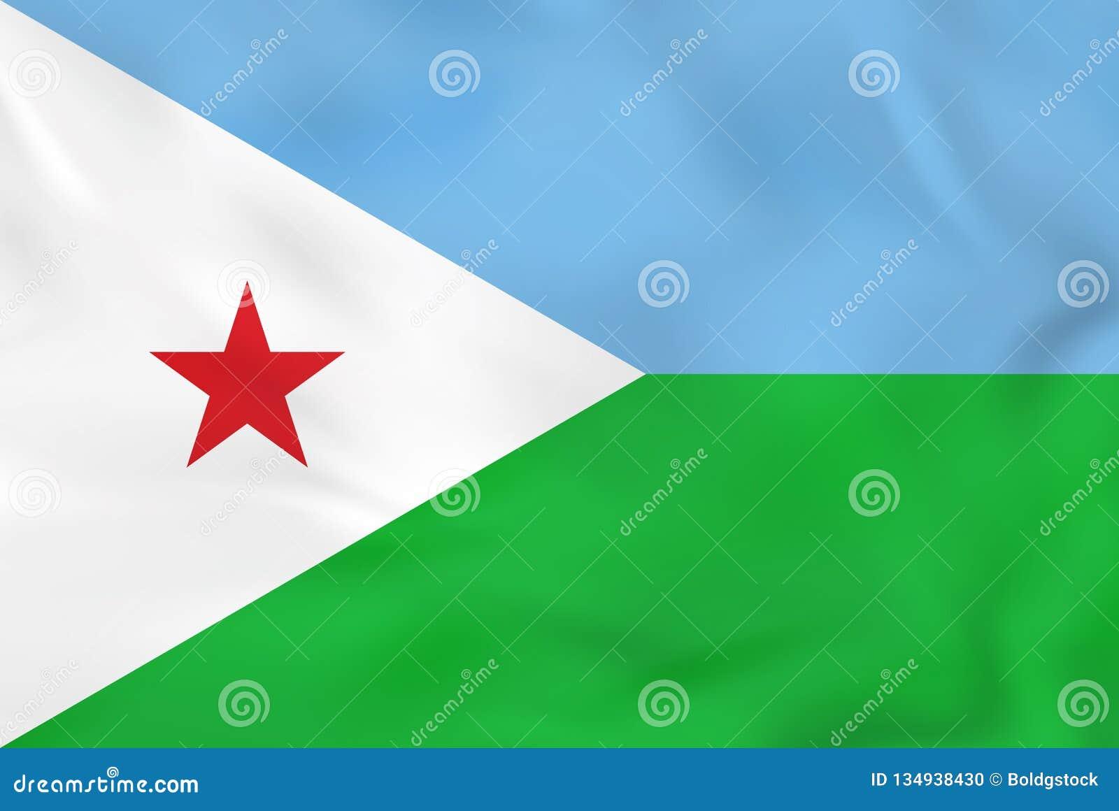 Djibouti falowania flaga Djibouti flagi państowowej tła tekstura