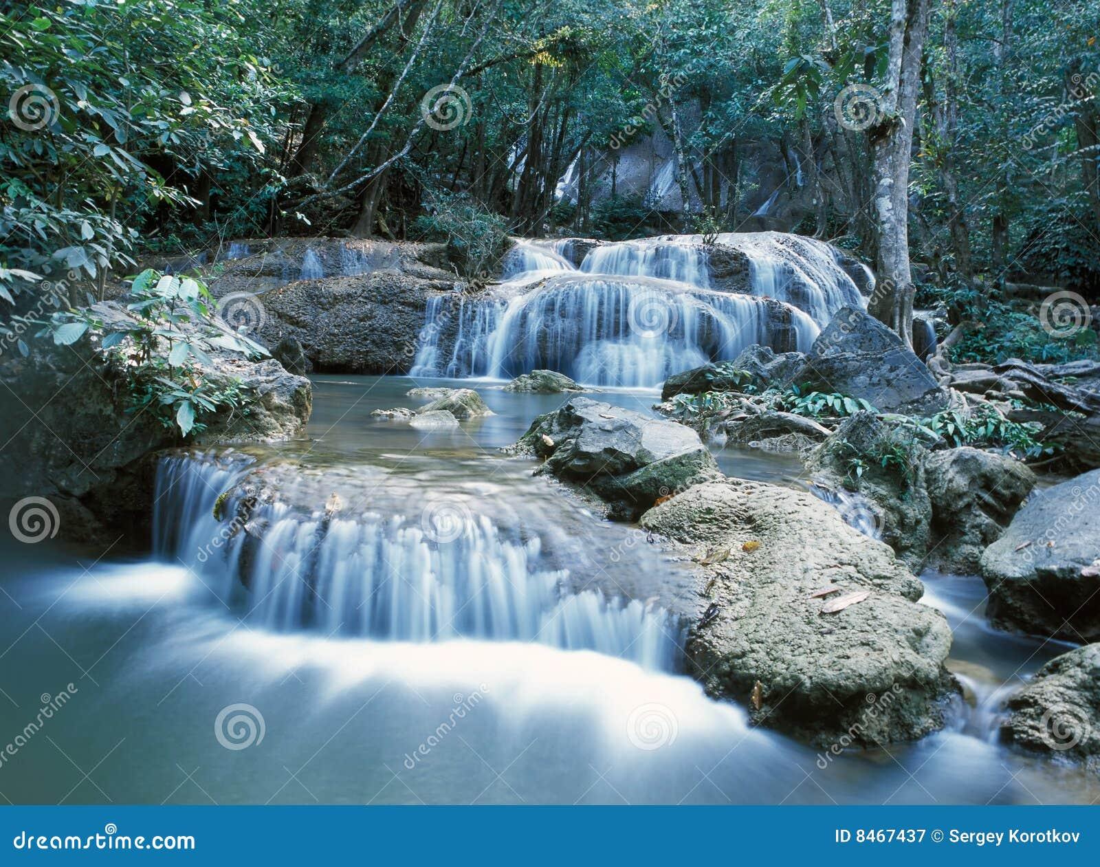 Djungelthailand vattenfall
