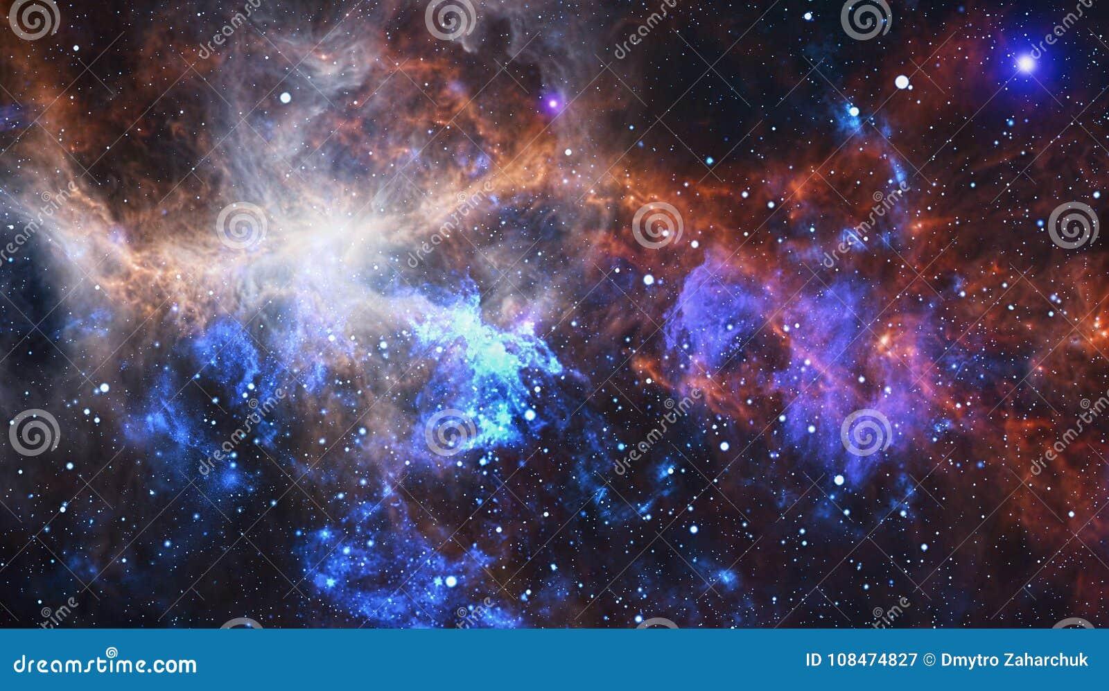 Djup galaxavståndsspiral Beståndsdelar av denna avbildar möblerat av NASA