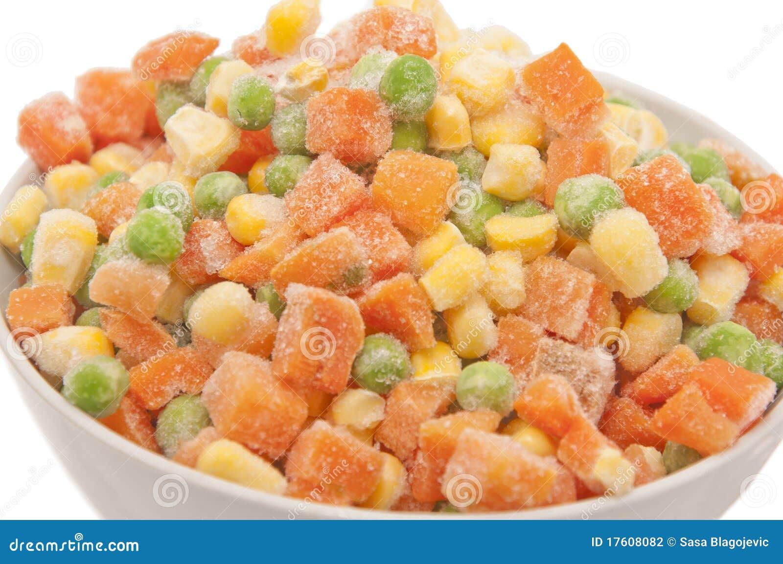 Djupfryst blandade grönsaker