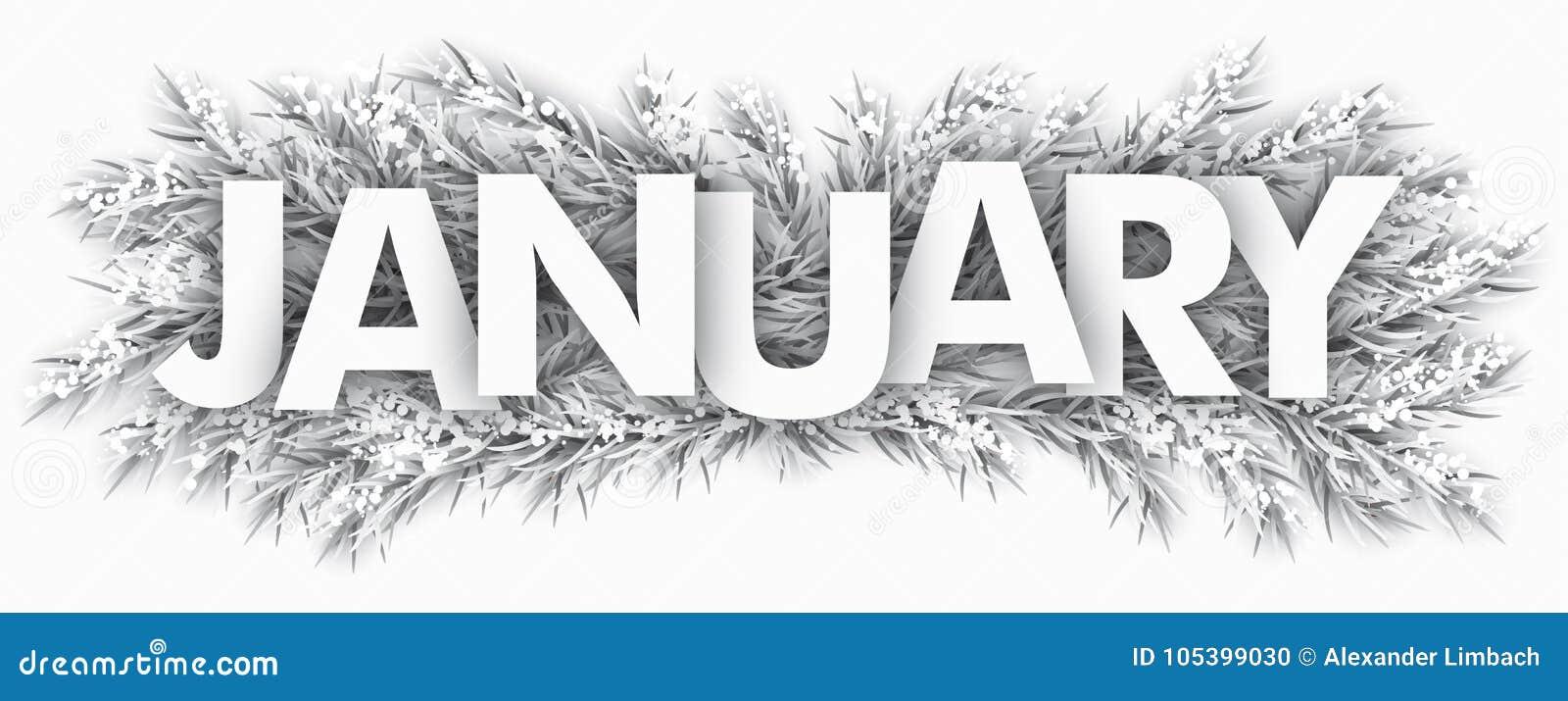 Djupfryst gran fattar Januari