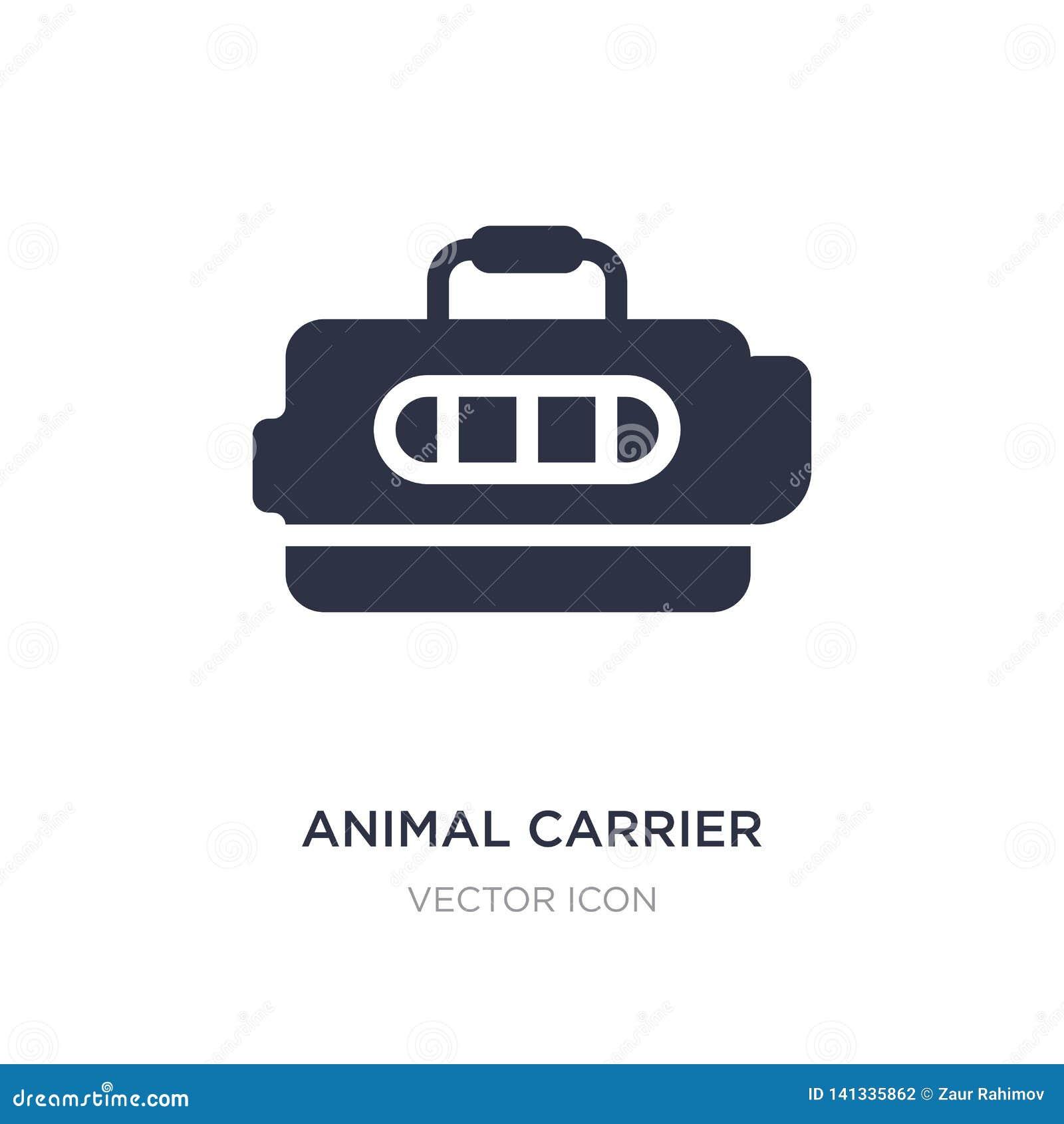 Djur bäraresymbol på vit bakgrund Enkel beståndsdelillustration från transportbegrepp