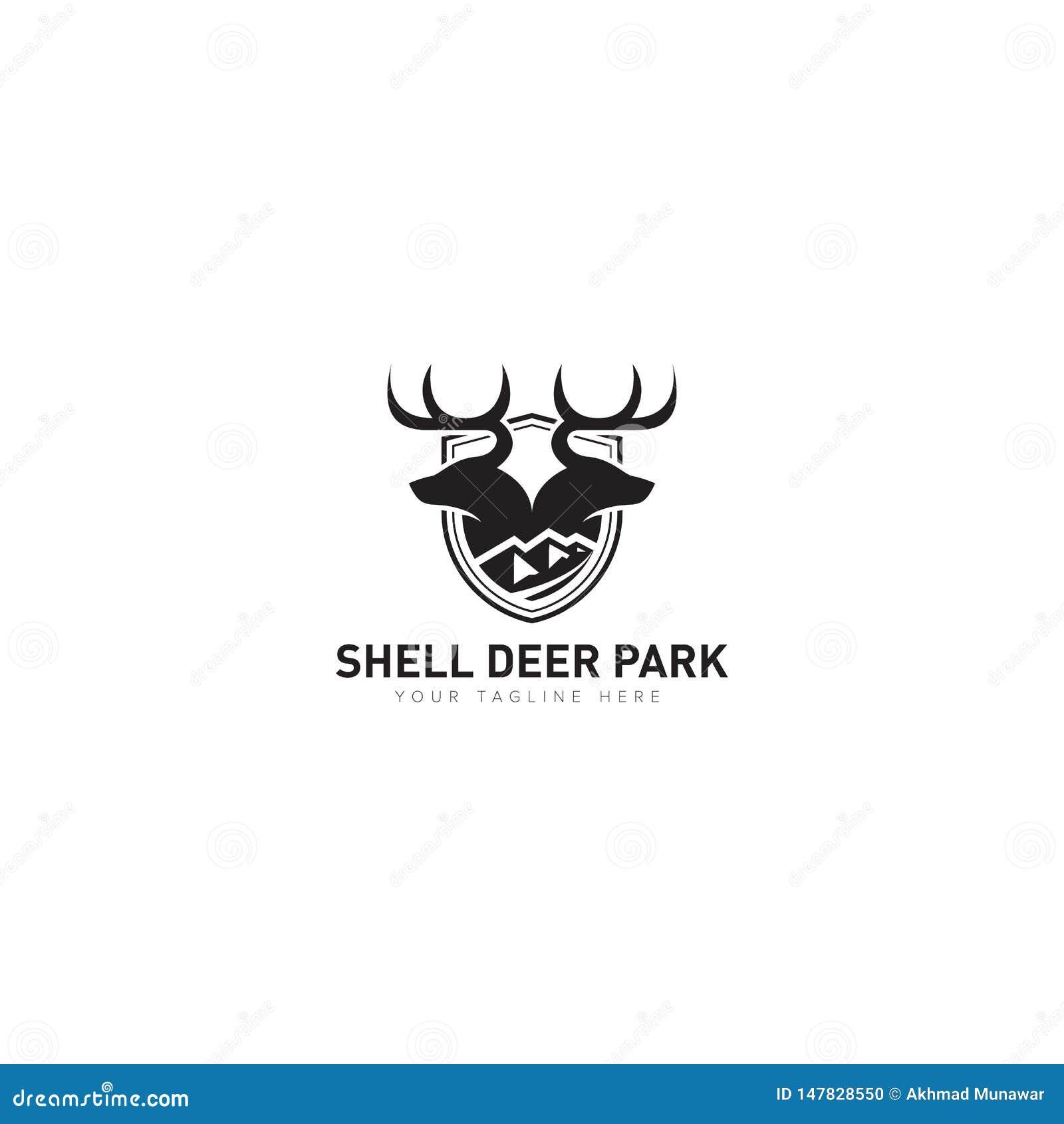Djur kategori för Shell Deer Park Logo Design