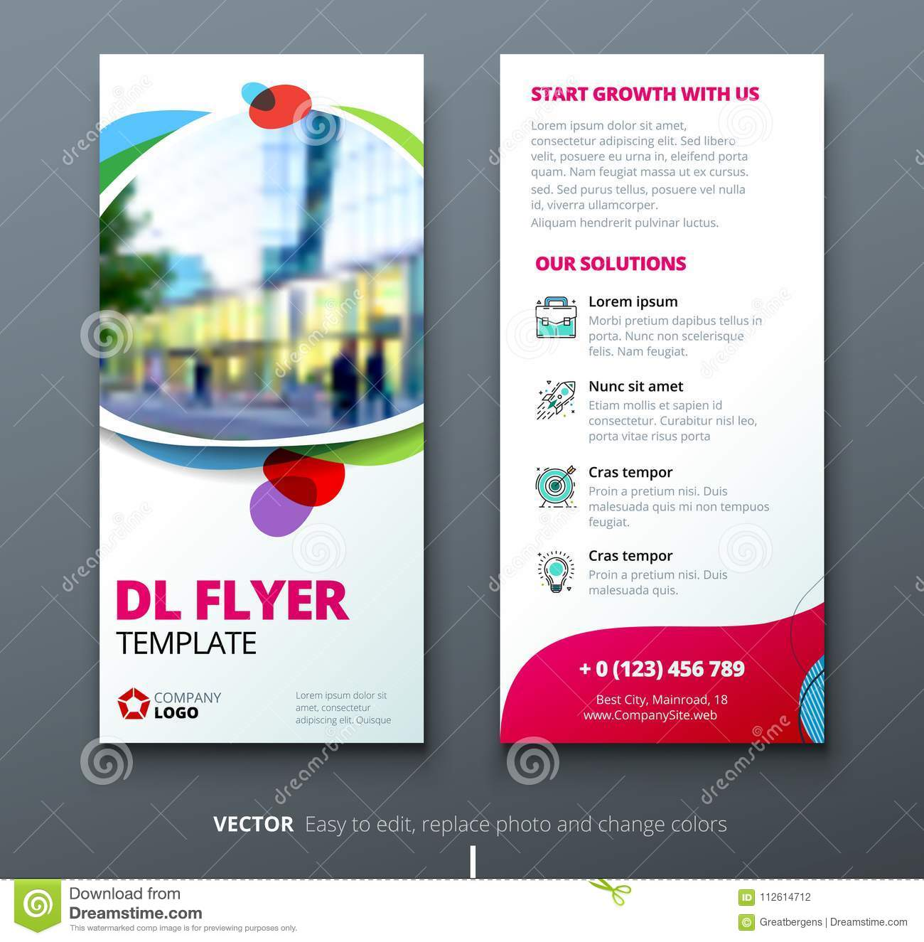 Dl Flyer Design Corporate Business Template For Dl Flyer With Color